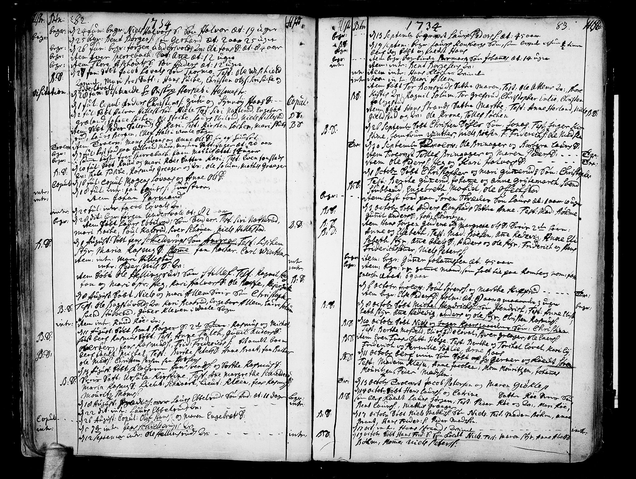 SAKO, Botne kirkebøker, F/Fa/L0001a: Ministerialbok nr. I 1A, 1707-1778, s. 82-83