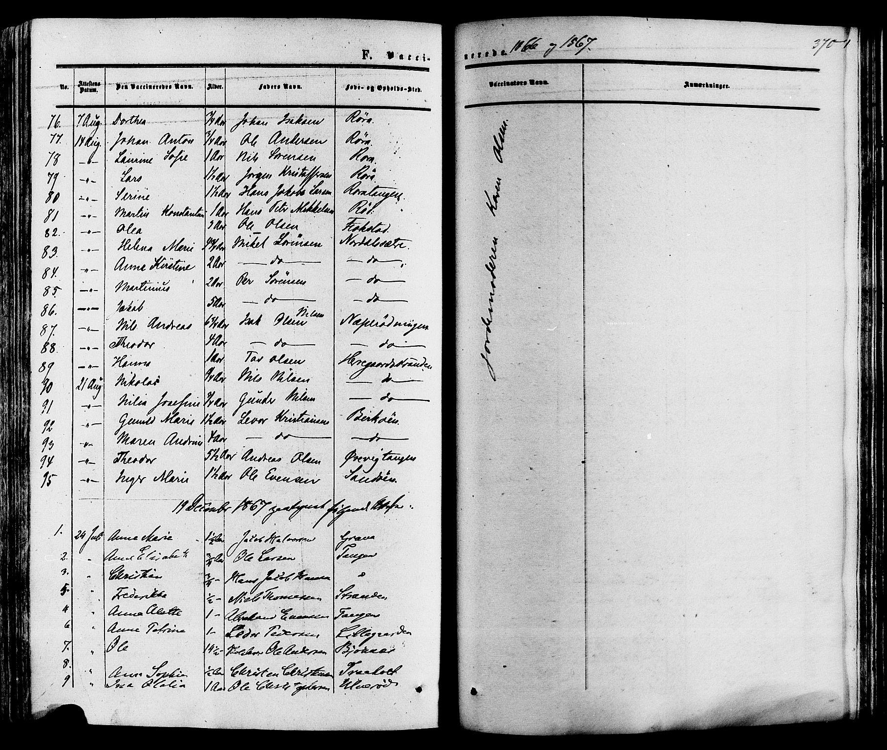 SAKO, Eidanger kirkebøker, F/Fa/L0010: Ministerialbok nr. 10, 1859-1874, s. 370
