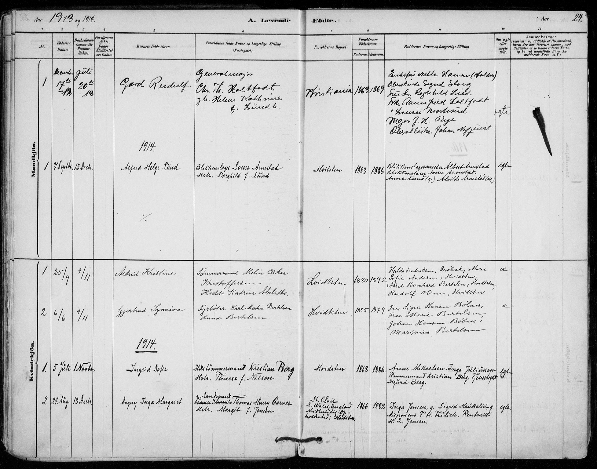 SAO, Vestby prestekontor Kirkebøker, F/Fd/L0001: Ministerialbok nr. IV 1, 1878-1945, s. 24