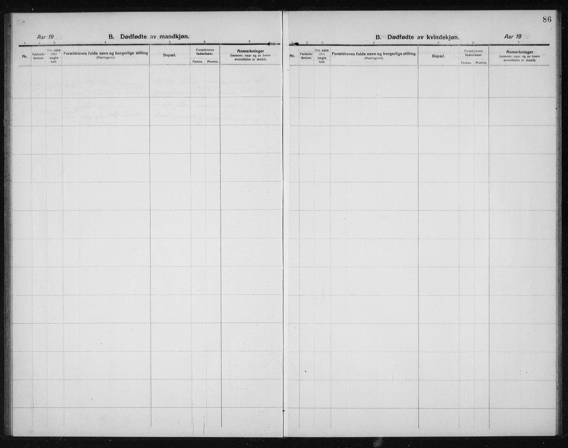 SAT, Ministerialprotokoller, klokkerbøker og fødselsregistre - Sør-Trøndelag, 611/L0356: Klokkerbok nr. 611C04, 1914-1938, s. 86