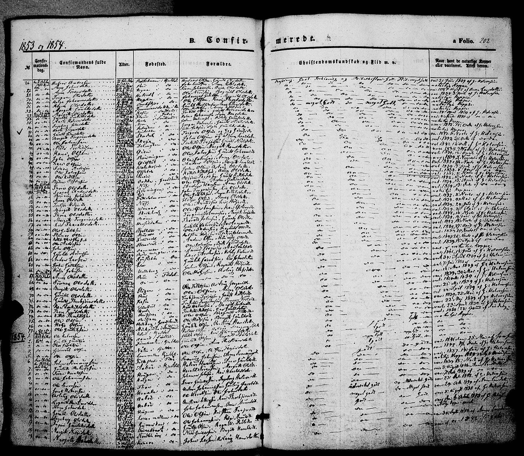 SAKO, Hjartdal kirkebøker, F/Fa/L0008: Ministerialbok nr. I 8, 1844-1859, s. 202