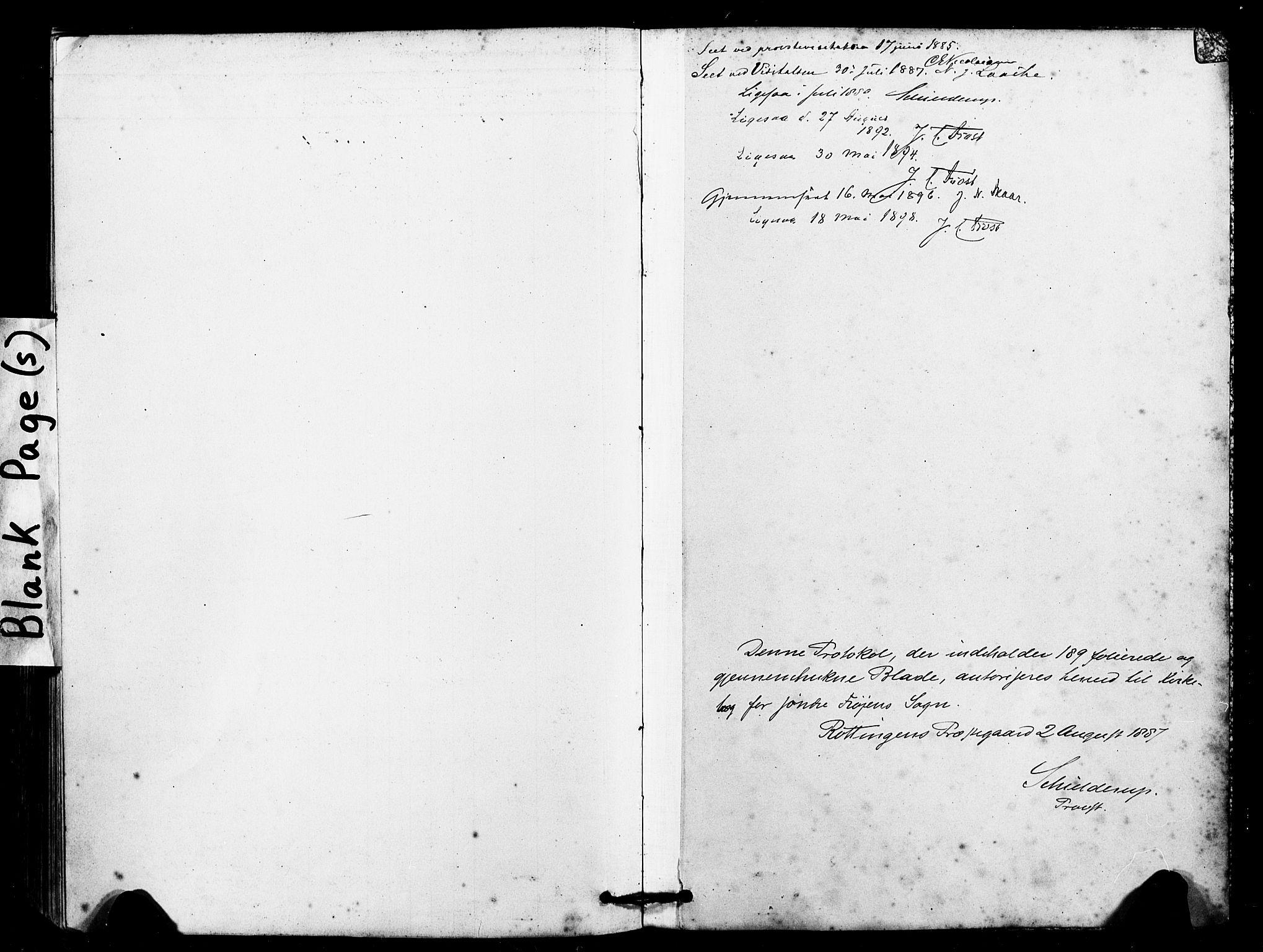 SAT, Ministerialprotokoller, klokkerbøker og fødselsregistre - Sør-Trøndelag, 641/L0595: Ministerialbok nr. 641A01, 1882-1897