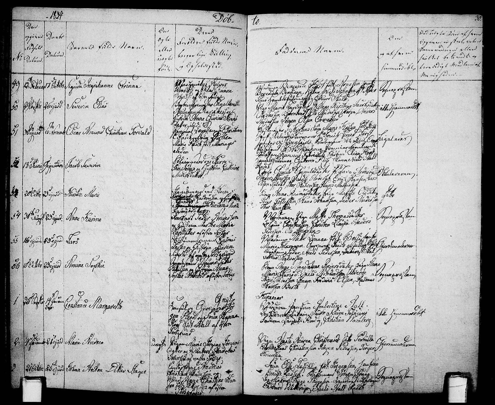 SAKO, Porsgrunn kirkebøker , F/Fa/L0005: Ministerialbok nr. 5, 1828-1840, s. 30