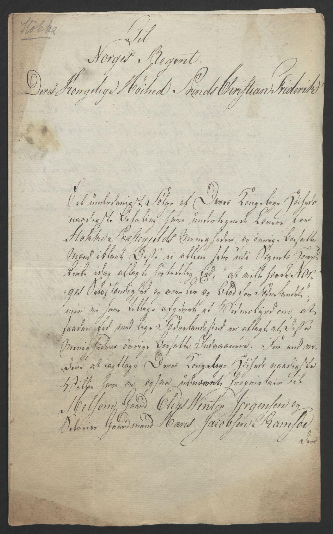 RA, Statsrådssekretariatet, D/Db/L0008: Fullmakter for Eidsvollsrepresentantene i 1814. , 1814, s. 24