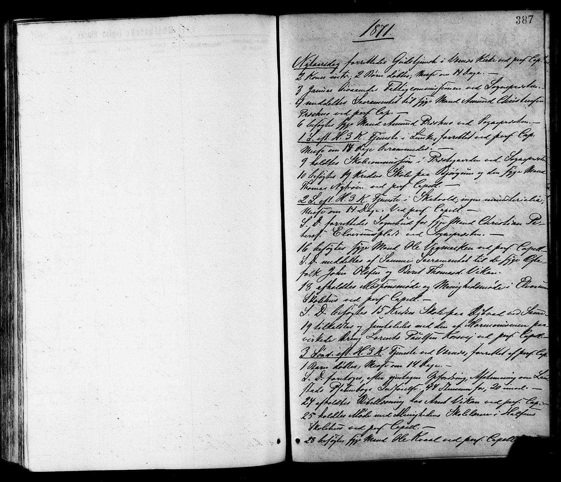 SAT, Ministerialprotokoller, klokkerbøker og fødselsregistre - Nord-Trøndelag, 709/L0076: Ministerialbok nr. 709A16, 1871-1879, s. 387