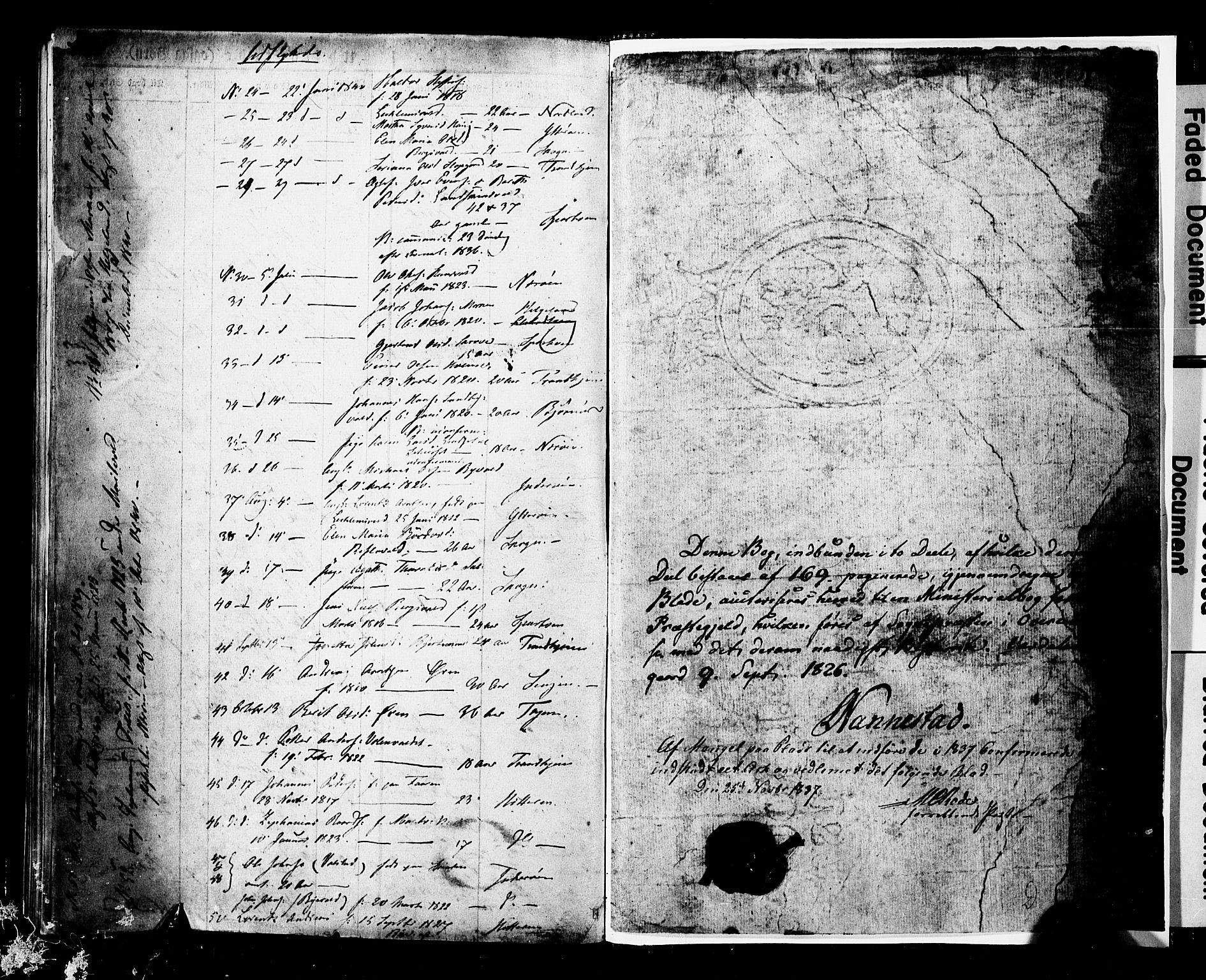 SAT, Ministerialprotokoller, klokkerbøker og fødselsregistre - Nord-Trøndelag, 723/L0243: Ministerialbok nr. 723A12, 1822-1851
