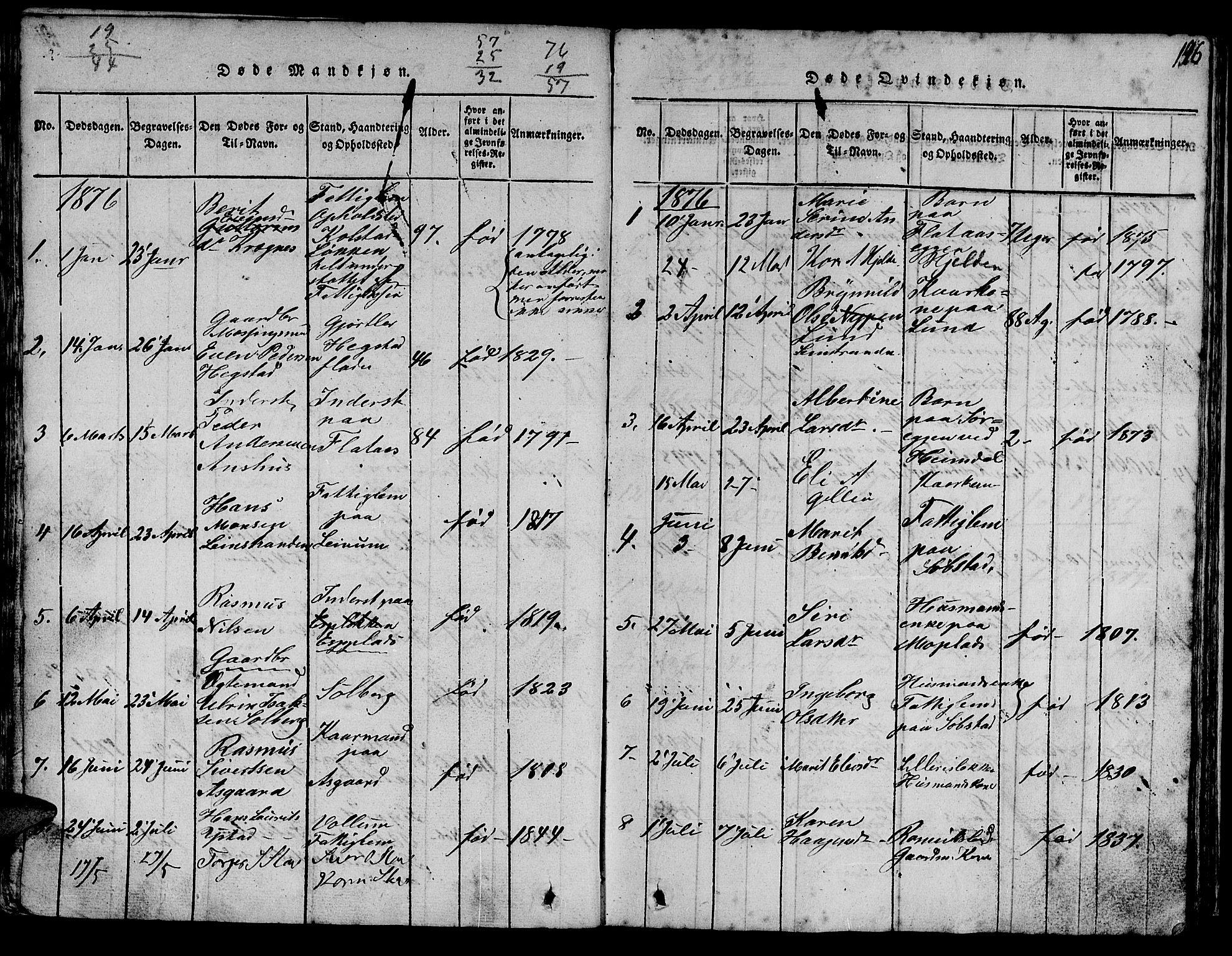 SAT, Ministerialprotokoller, klokkerbøker og fødselsregistre - Sør-Trøndelag, 613/L0393: Klokkerbok nr. 613C01, 1816-1886, s. 146
