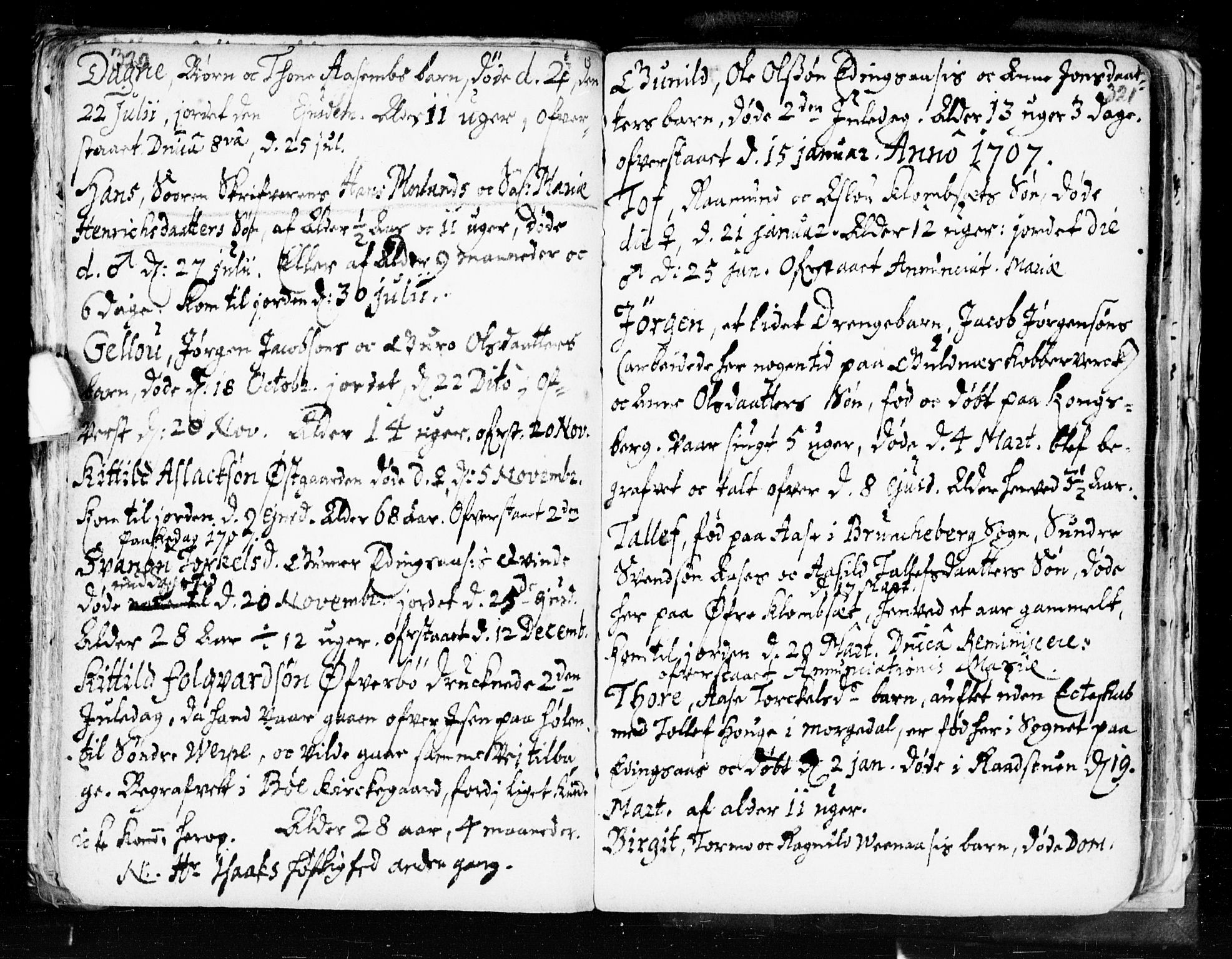 SAKO, Seljord kirkebøker, F/Fa/L0002: Ministerialbok nr. I 2, 1689-1713, s. 320-321