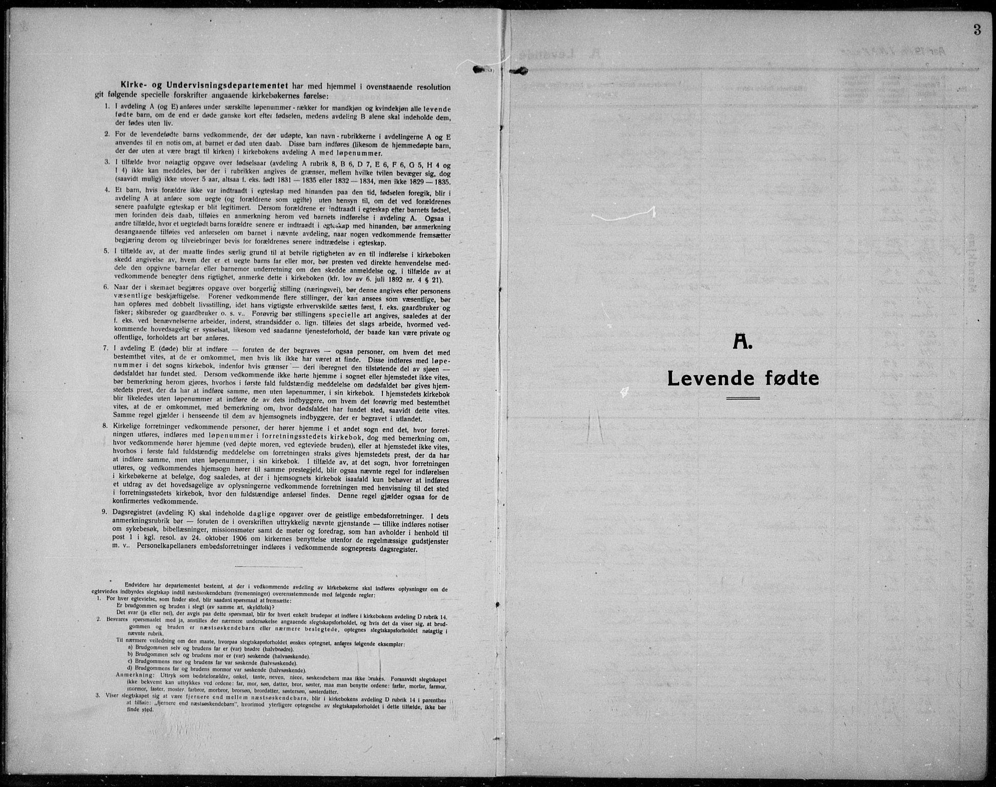 SAH, Jevnaker prestekontor, Ministerialbok nr. 12, 1914-1924, s. 3