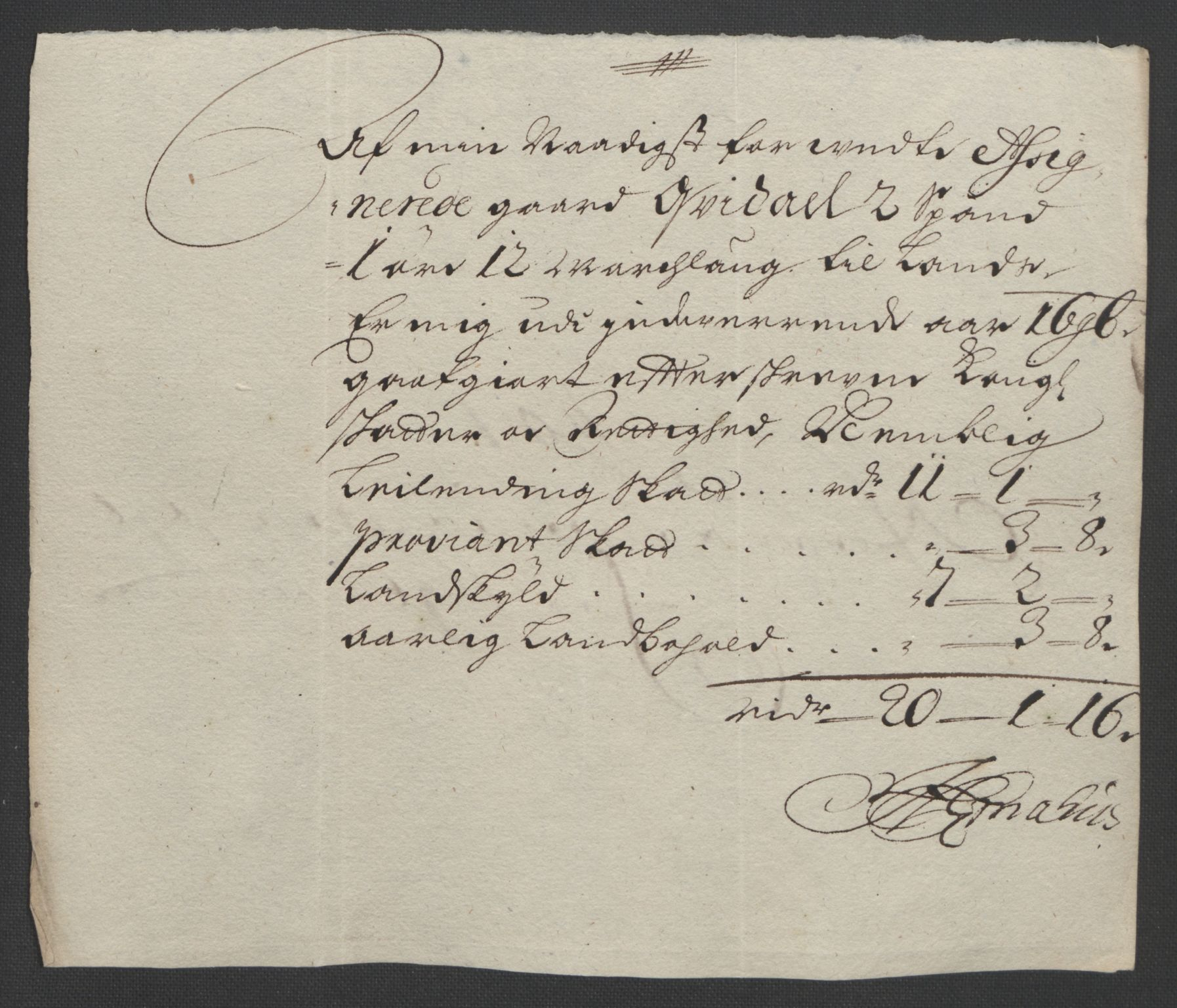 RA, Rentekammeret inntil 1814, Reviderte regnskaper, Fogderegnskap, R57/L3851: Fogderegnskap Fosen, 1695-1696, s. 285