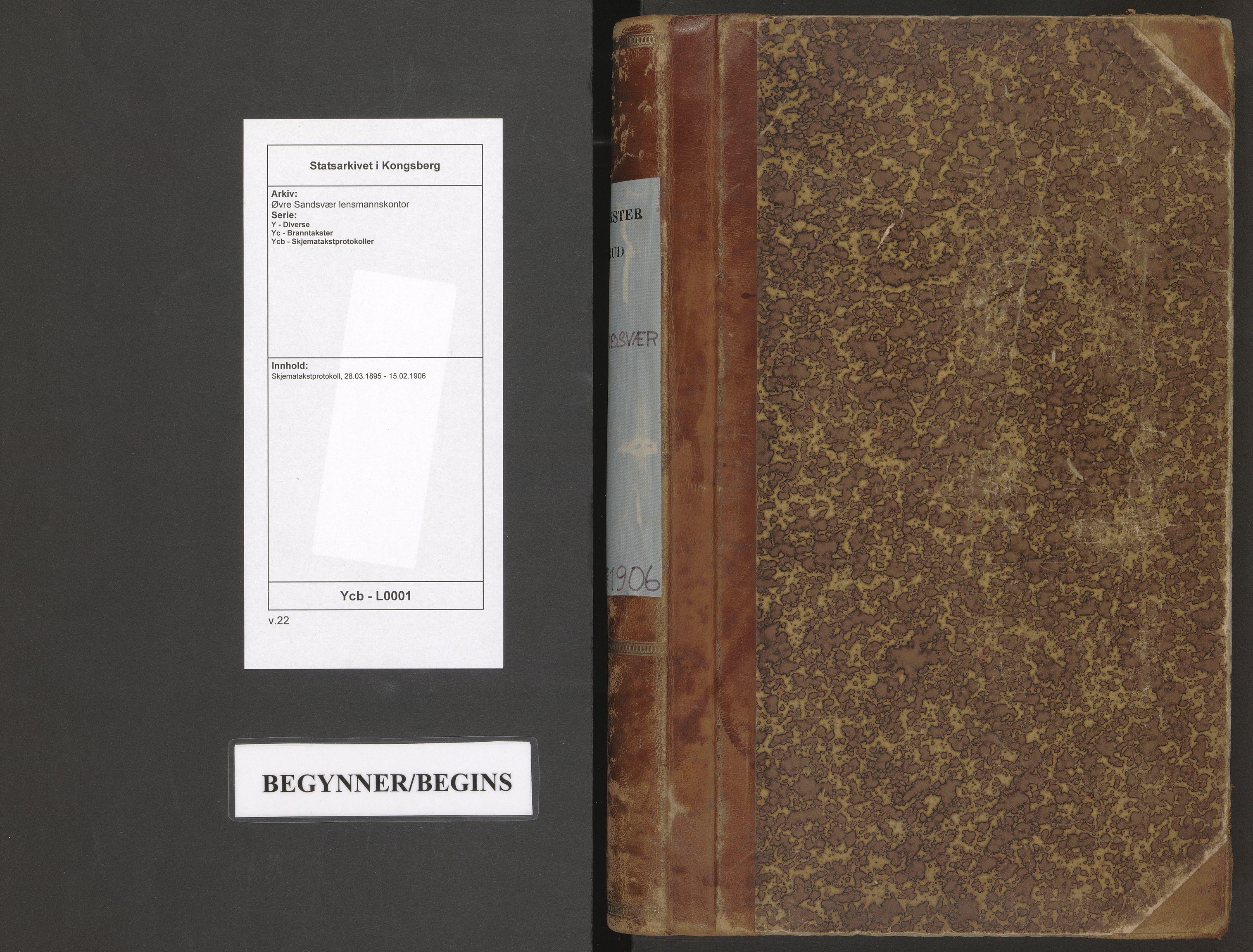 SAKO, Øvre Sandsvær lensmannskontor, Y/Yc/Ycb/L0001: Skjematakstprotokoll, 1895-1906