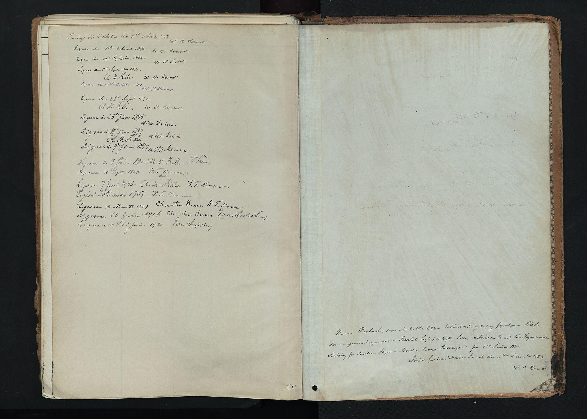 SAH, Nord-Fron prestekontor, Ministerialbok nr. 5, 1884-1914