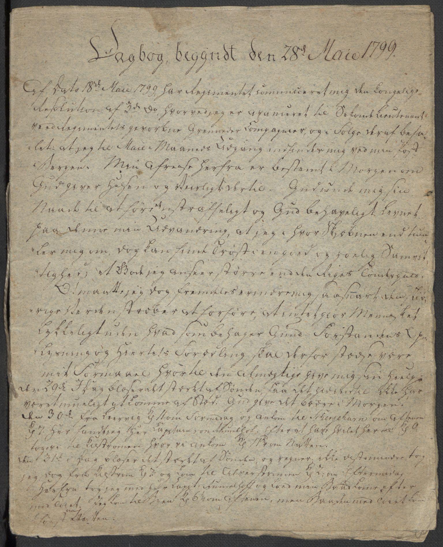 RA, Holck, Meidell, Hartvig, F/L0001: (Kassett) Dagbøker ført av Ole Elias v.Holck, 1798-1842, s. 42