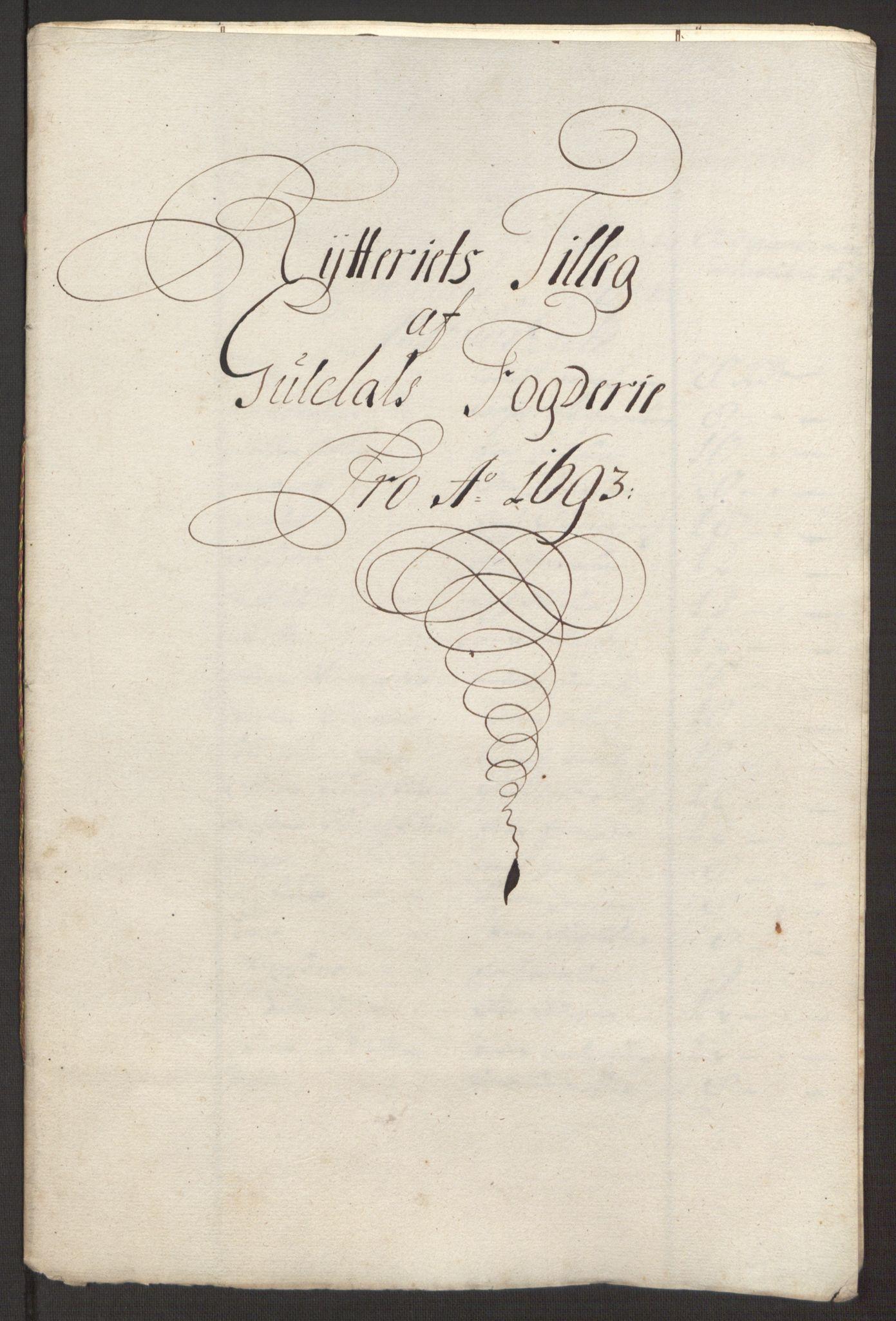 RA, Rentekammeret inntil 1814, Reviderte regnskaper, Fogderegnskap, R59/L3943: Fogderegnskap Gauldal, 1693, s. 160