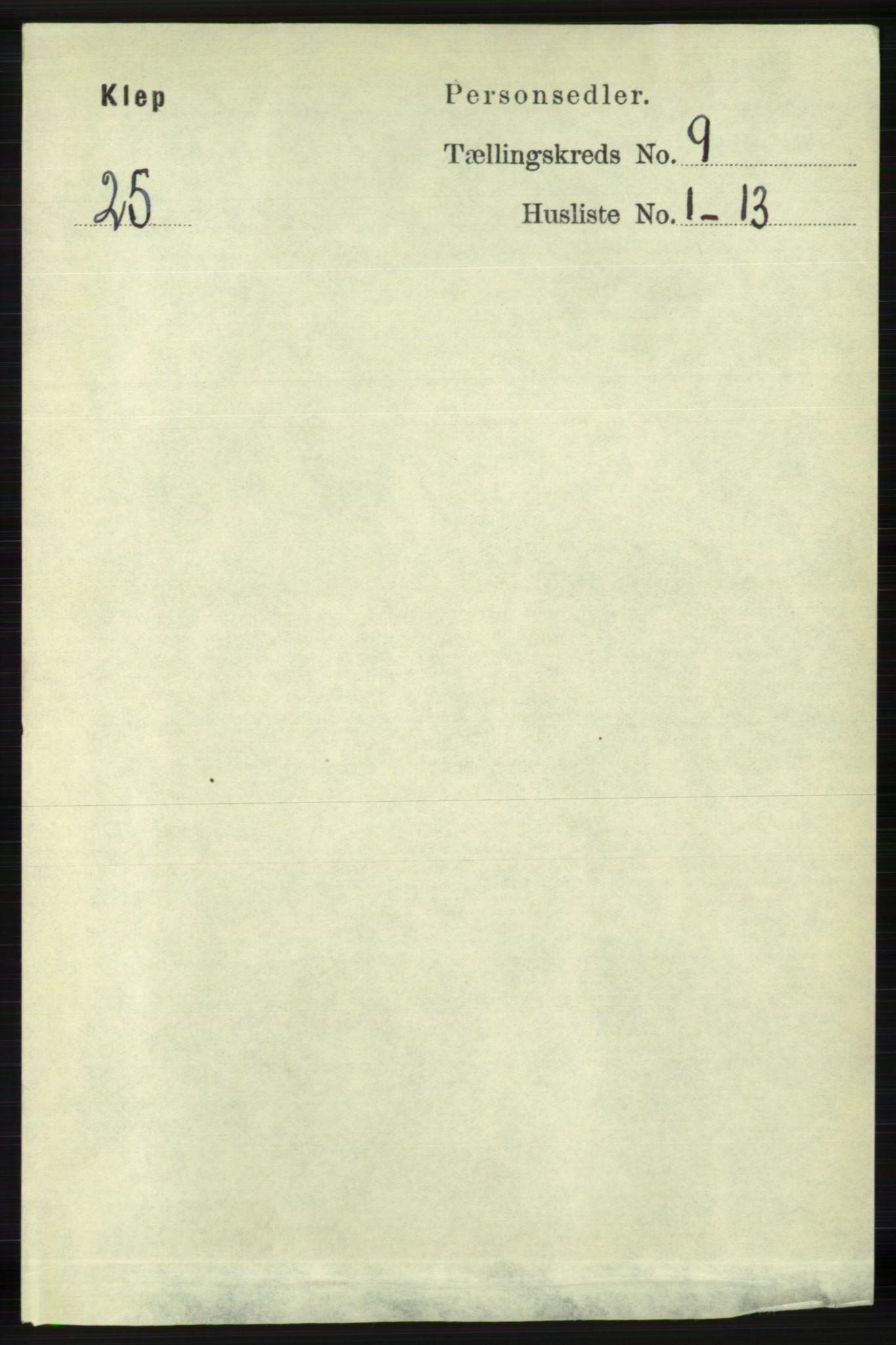 RA, Folketelling 1891 for 1120 Klepp herred, 1891, s. 2724