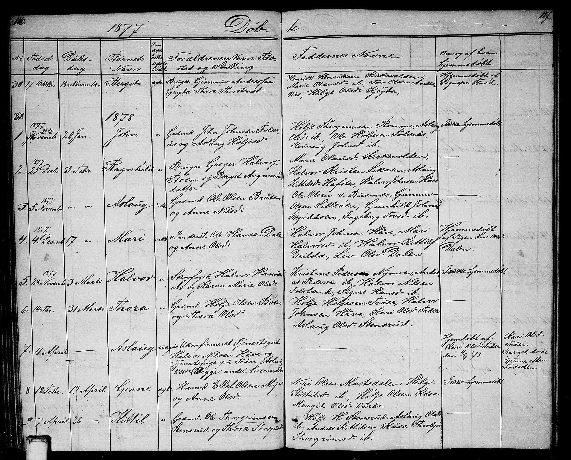 SAKO, Gransherad kirkebøker, G/Ga/L0002: Klokkerbok nr. I 2, 1854-1886, s. 116-117