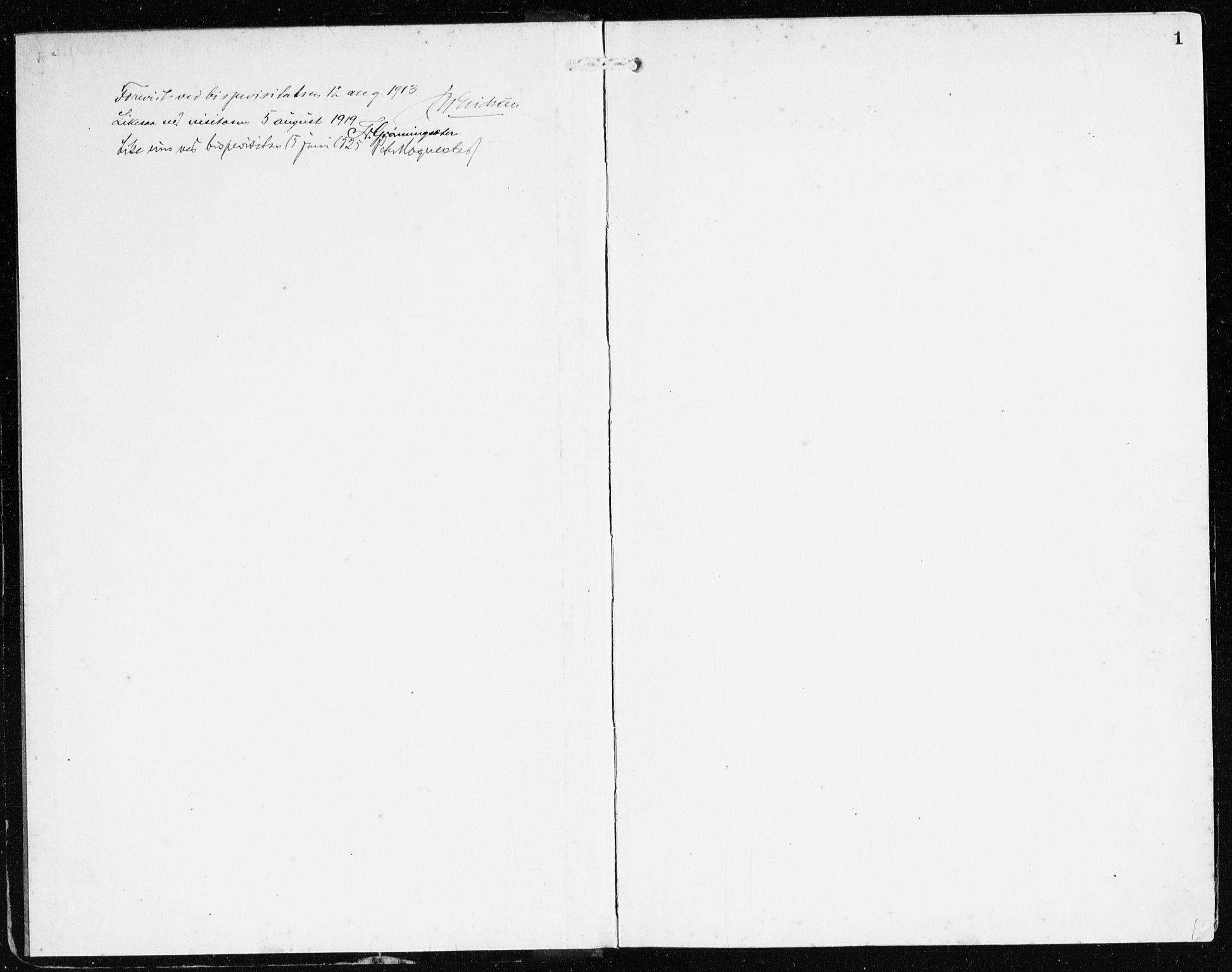 SAB, Bremanger Sokneprestembete, H/Haa: Ministerialbok nr. C 1, 1908-1921, s. 1