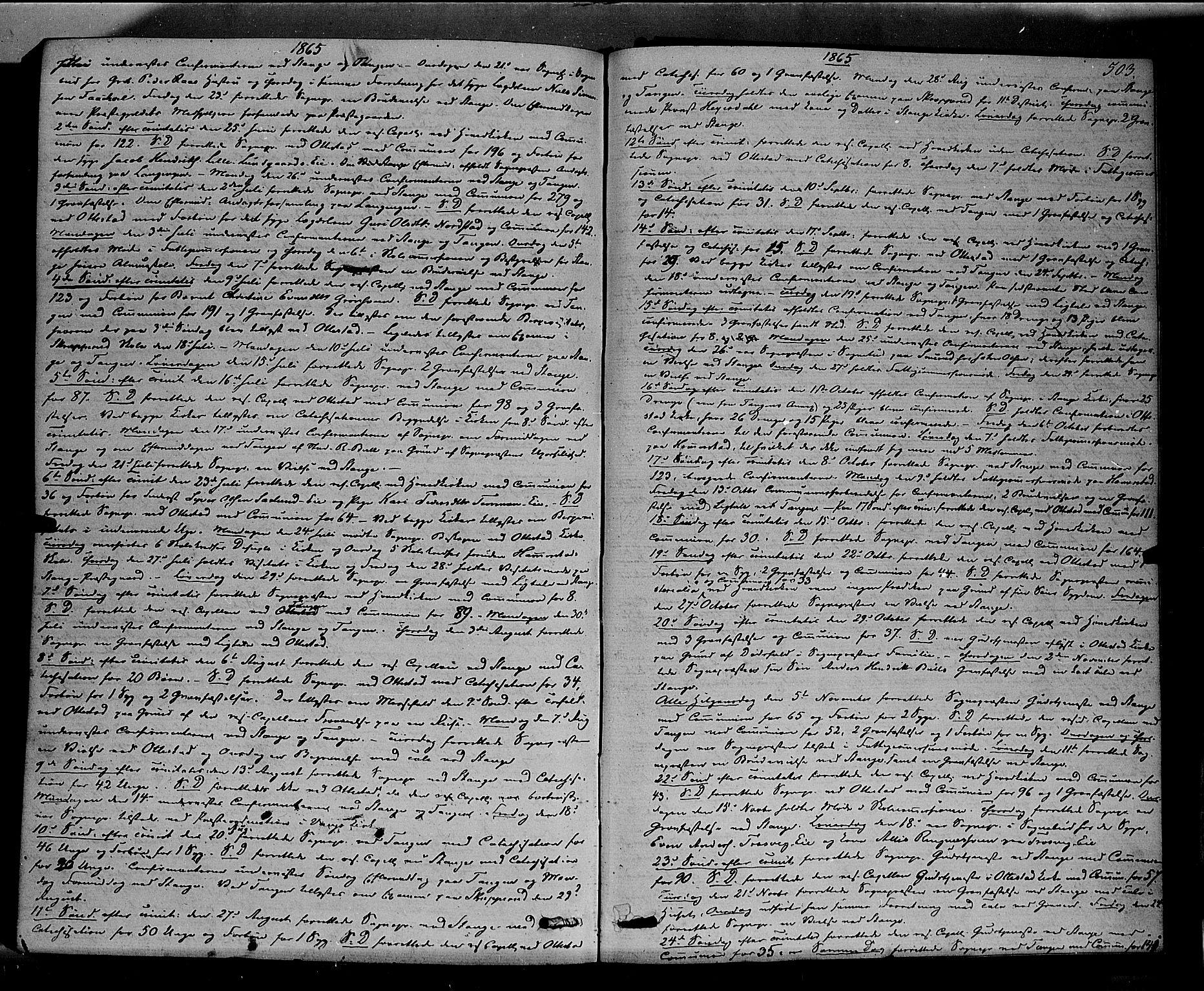 SAH, Stange prestekontor, K/L0013: Ministerialbok nr. 13, 1862-1879, s. 503