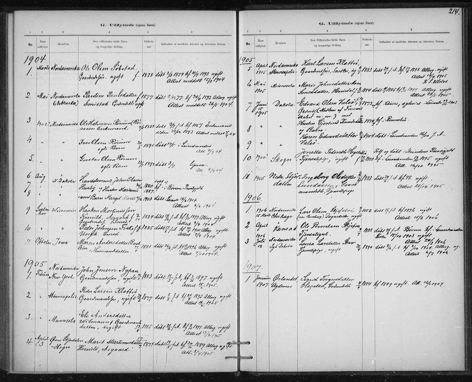 SAT, Ministerialprotokoller, klokkerbøker og fødselsregistre - Sør-Trøndelag, 613/L0392: Ministerialbok nr. 613A01, 1887-1906, s. 214