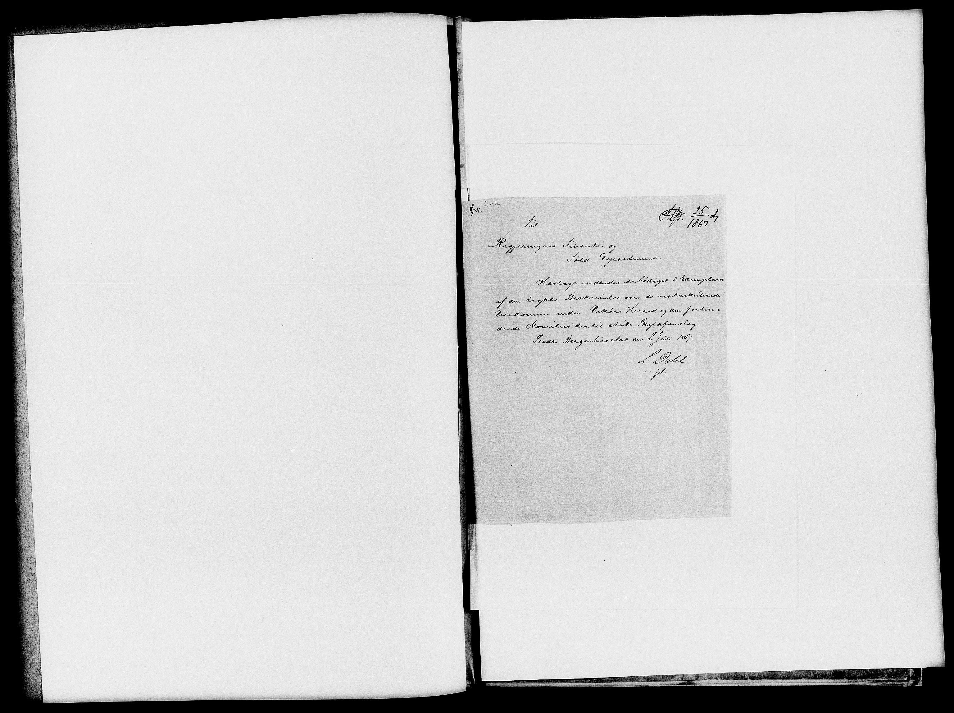 RA, Matrikkelrevisjonen av 1863, F/Fe/L0247: Vikør, 1863