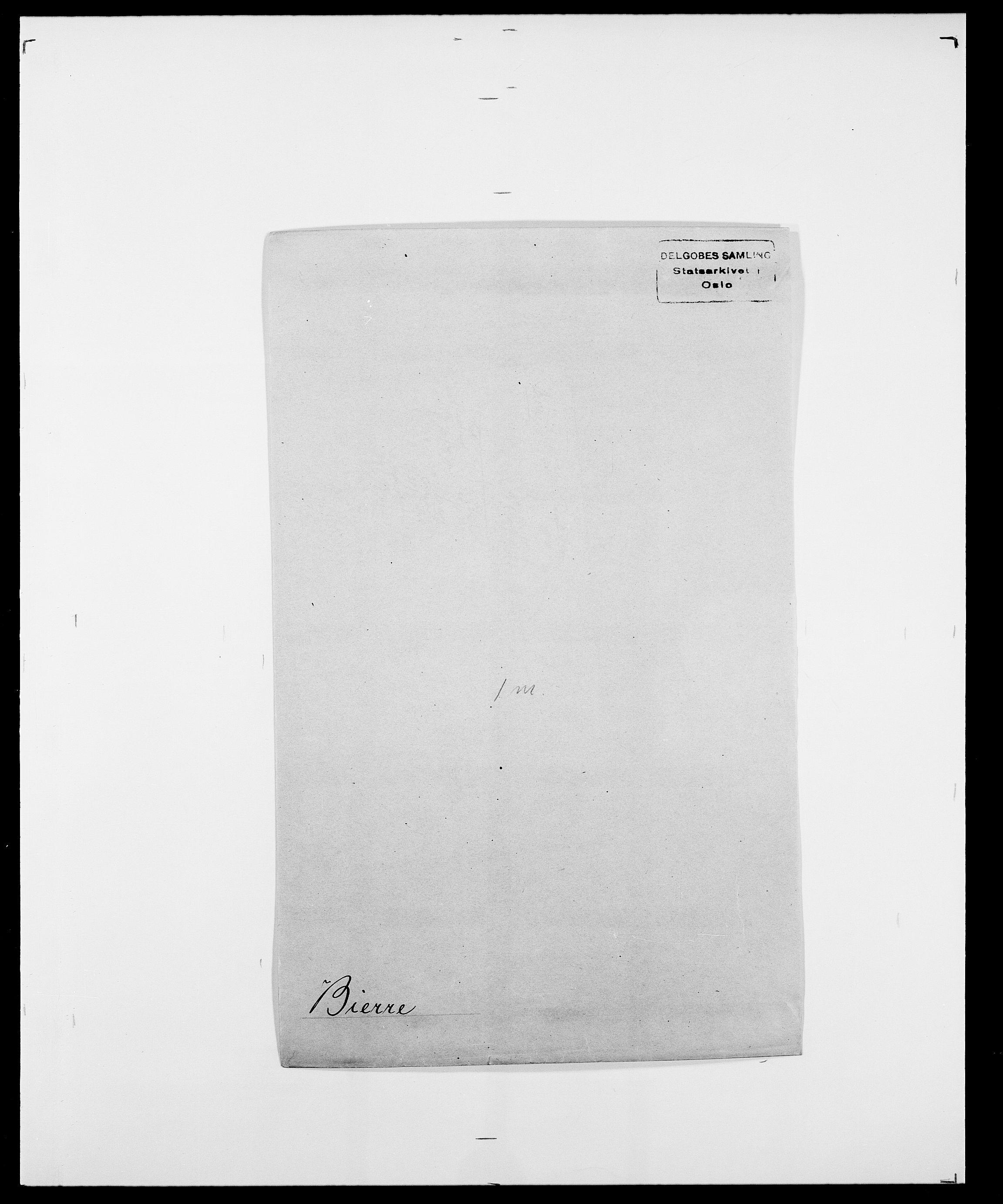 SAO, Delgobe, Charles Antoine - samling, D/Da/L0004: Bergendahl - Blære, s. 256