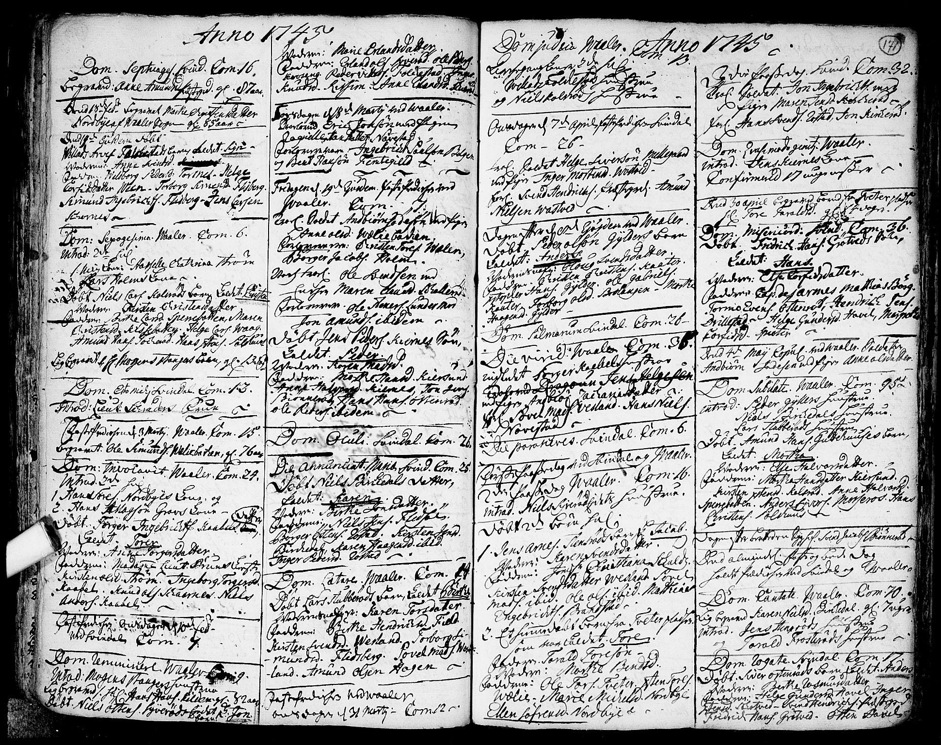 SAO, Våler prestekontor Kirkebøker, F/Fa/L0003: Ministerialbok nr. I 3, 1730-1770, s. 171
