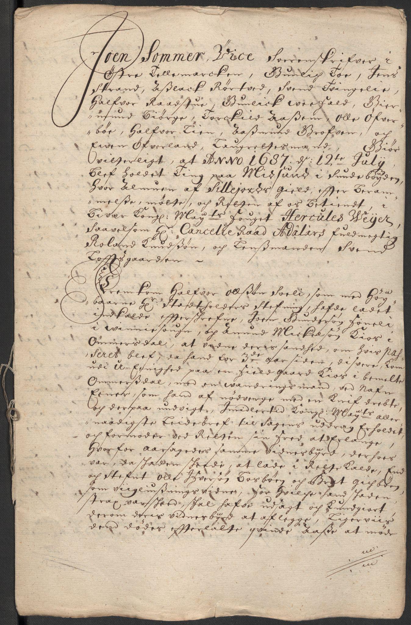 RA, Rentekammeret inntil 1814, Reviderte regnskaper, Fogderegnskap, R35/L2086: Fogderegnskap Øvre og Nedre Telemark, 1687-1689, s. 47