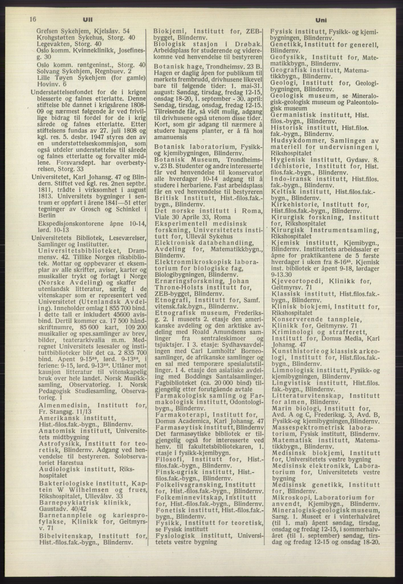 RA, Oslo adressebok (publikasjon)*, 1970-1971, s. 16
