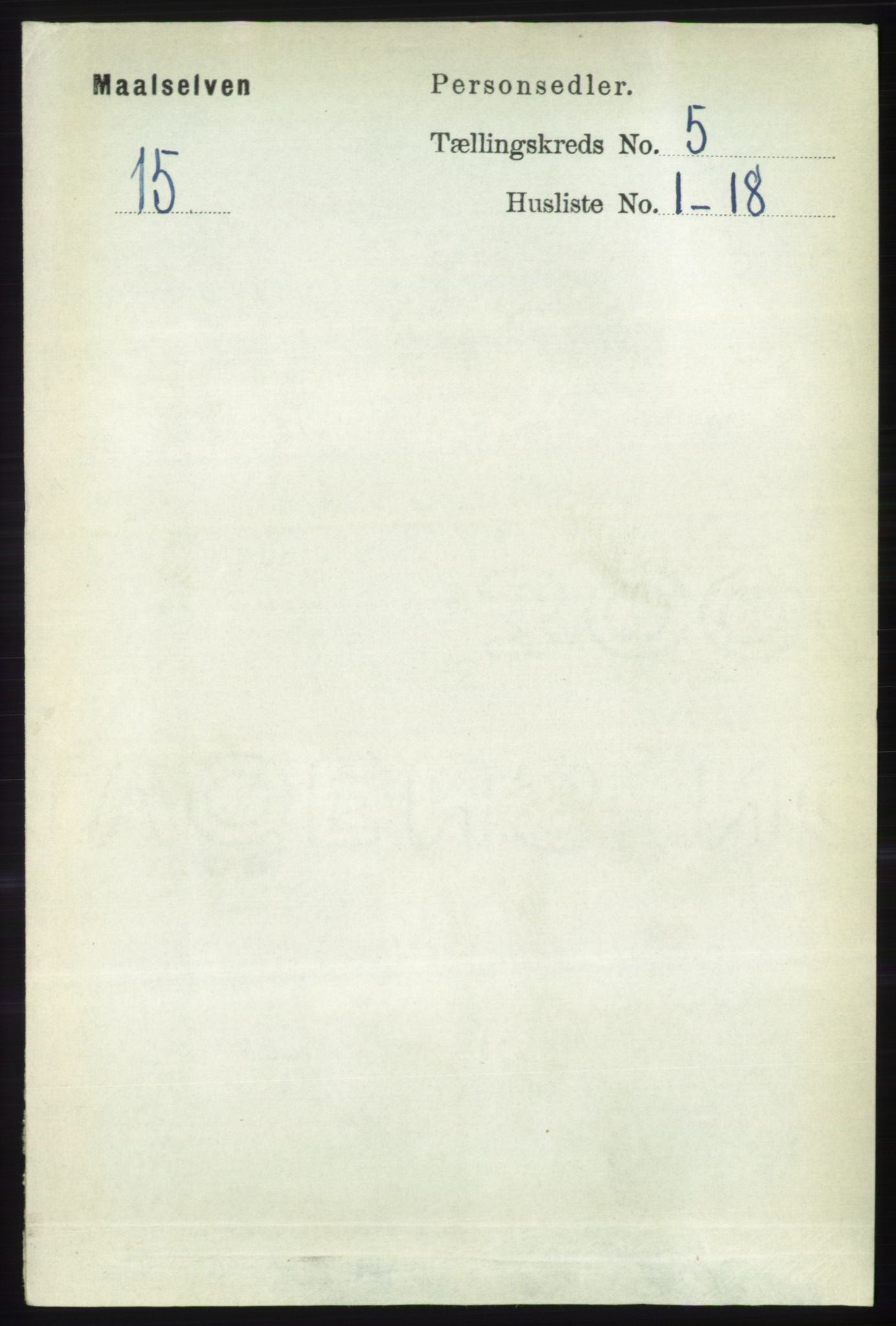 RA, Folketelling 1891 for 1924 Målselv herred, 1891, s. 1612