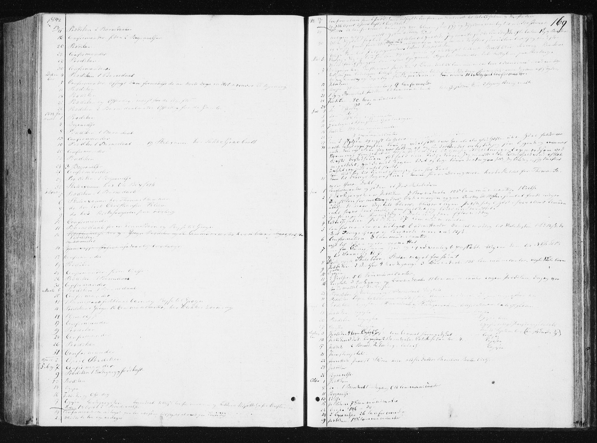 SAT, Ministerialprotokoller, klokkerbøker og fødselsregistre - Nord-Trøndelag, 749/L0470: Ministerialbok nr. 749A04, 1834-1853, s. 169