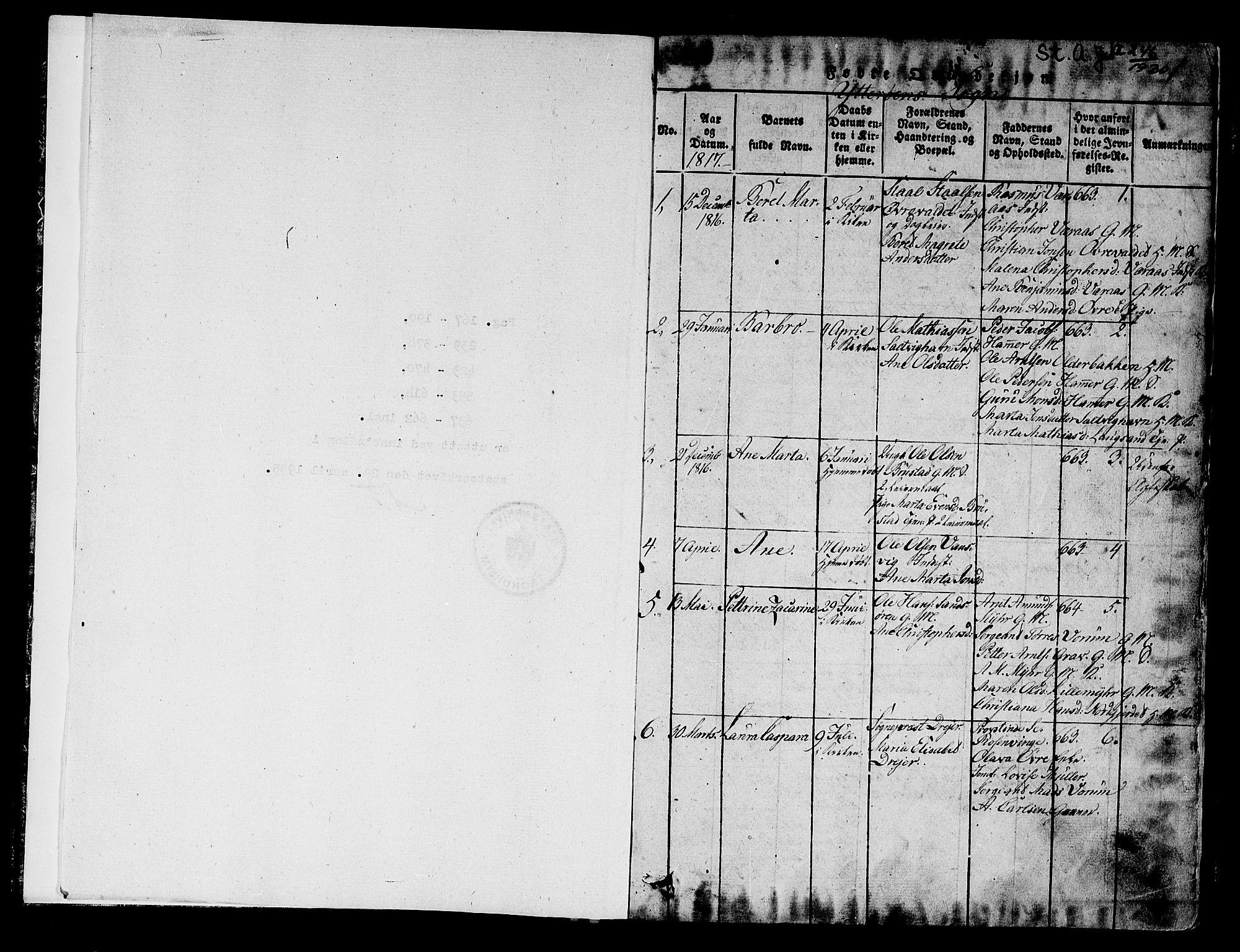 SAT, Ministerialprotokoller, klokkerbøker og fødselsregistre - Nord-Trøndelag, 722/L0217: Ministerialbok nr. 722A04, 1817-1842, s. 0-1