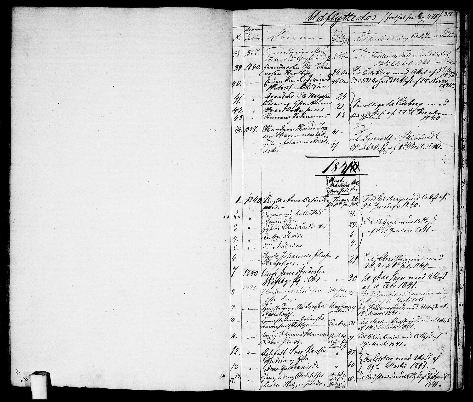 SAO, Rakkestad prestekontor Kirkebøker, F/Fa/L0007: Ministerialbok nr. I 7, 1825-1841, s. 352