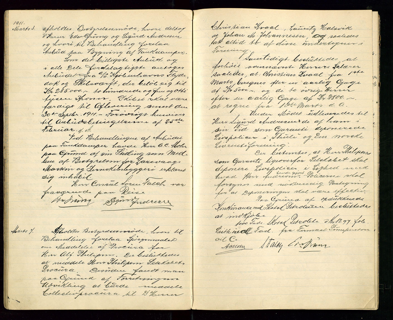 SAST, PA 1533 - A/S Vestlandske Petroleumscompani, A/Aa/L0001: Generalforsamlinger og styreprotokoller, 1907-1915, s. 40