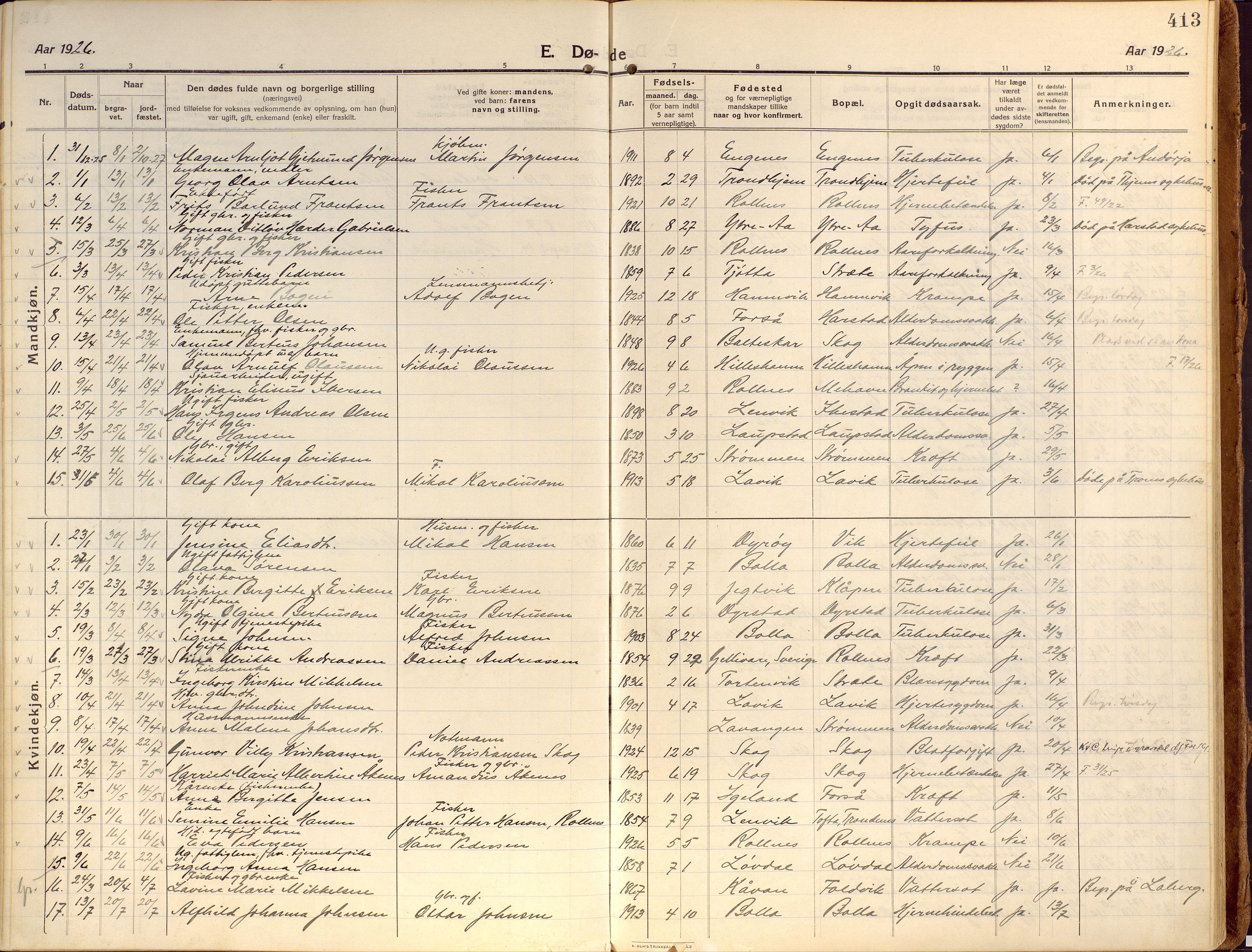 SATØ, Ibestad sokneprestembete, Ministerialbok nr. 18, 1915-1929, s. 413