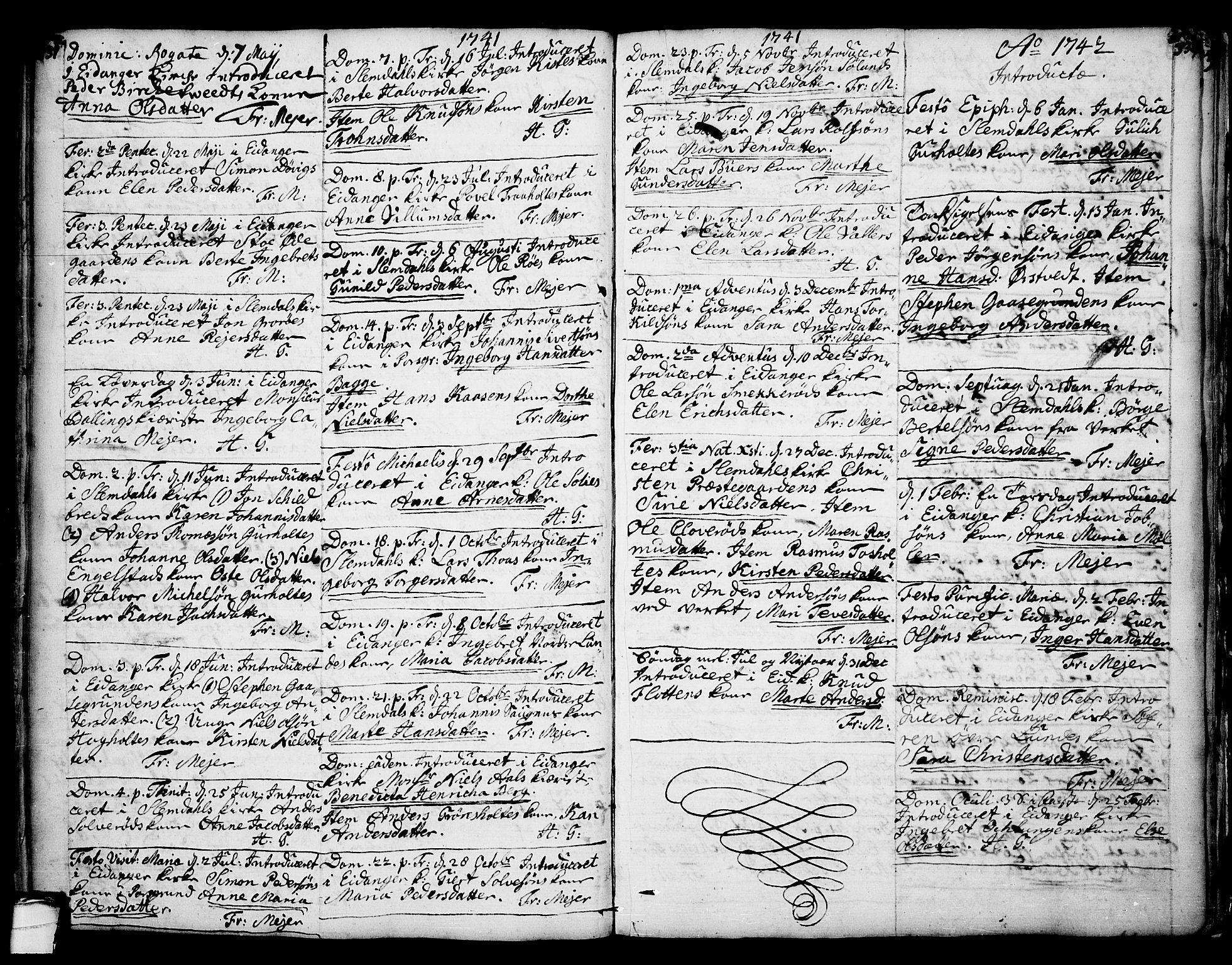 SAKO, Eidanger kirkebøker, F/Fa/L0004: Ministerialbok nr. 4, 1733-1759, s. 331-332