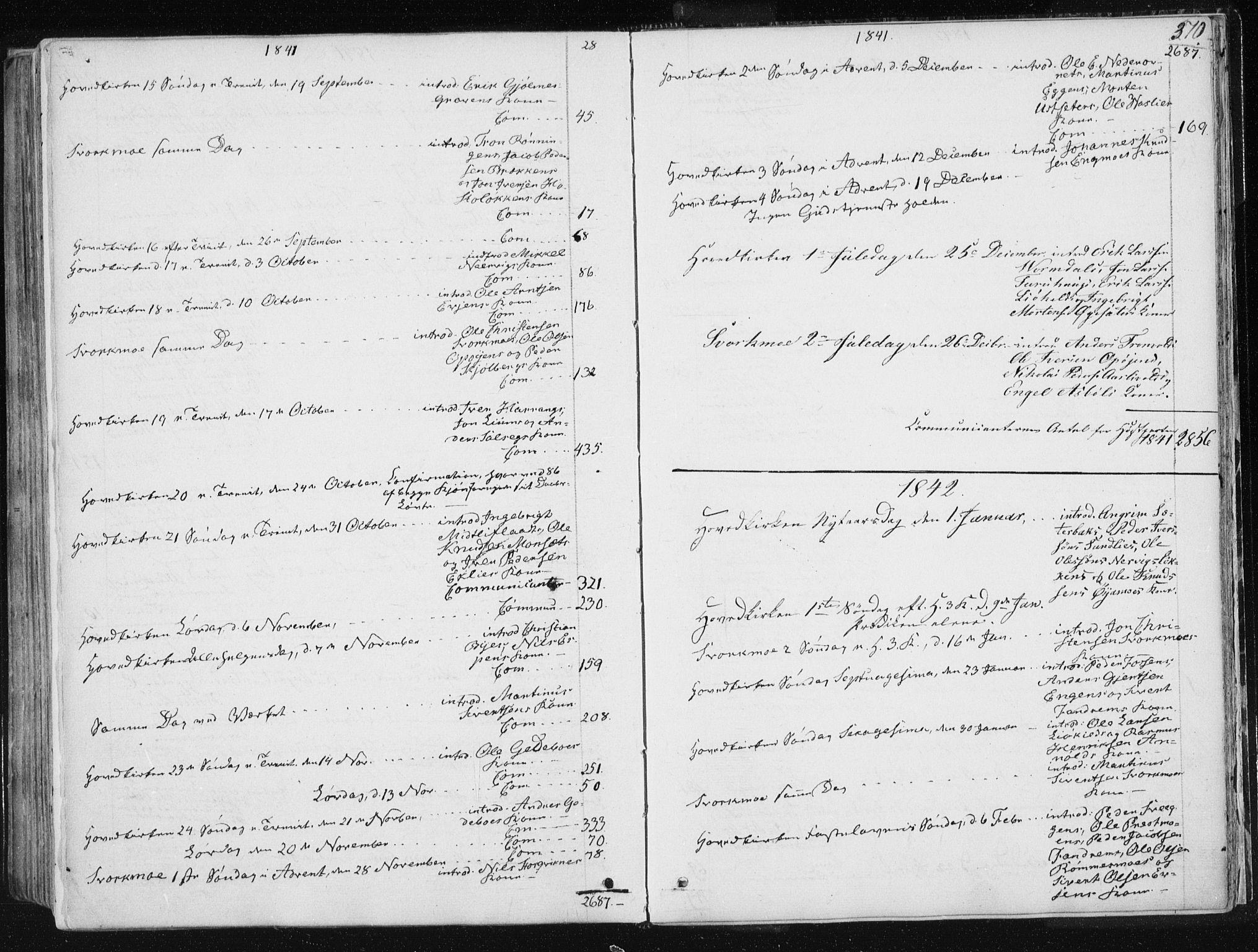 SAT, Ministerialprotokoller, klokkerbøker og fødselsregistre - Sør-Trøndelag, 668/L0805: Ministerialbok nr. 668A05, 1840-1853, s. 370