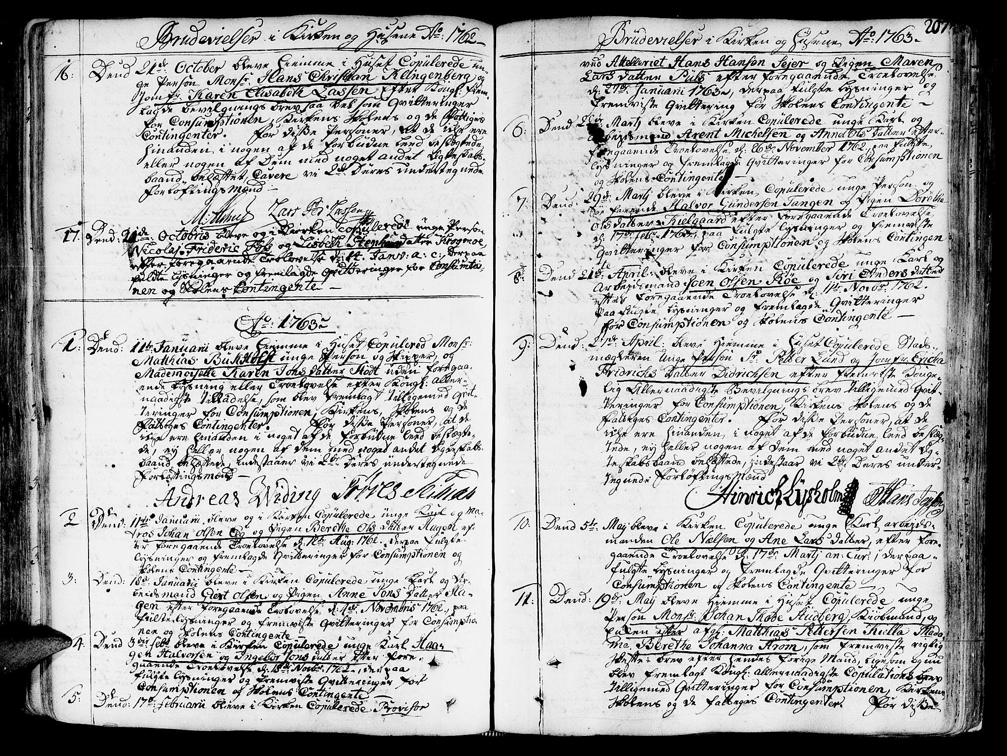 SAT, Ministerialprotokoller, klokkerbøker og fødselsregistre - Sør-Trøndelag, 602/L0103: Ministerialbok nr. 602A01, 1732-1774, s. 207