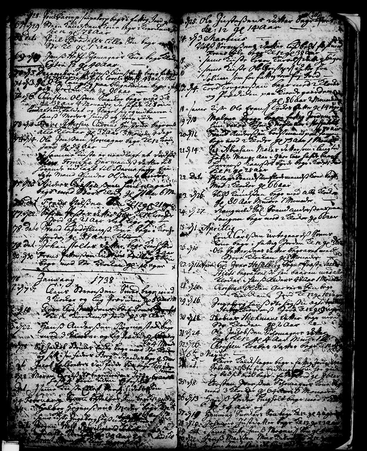 SAKO, Skien kirkebøker, F/Fa/L0002: Ministerialbok nr. 2, 1716-1757, s. 206