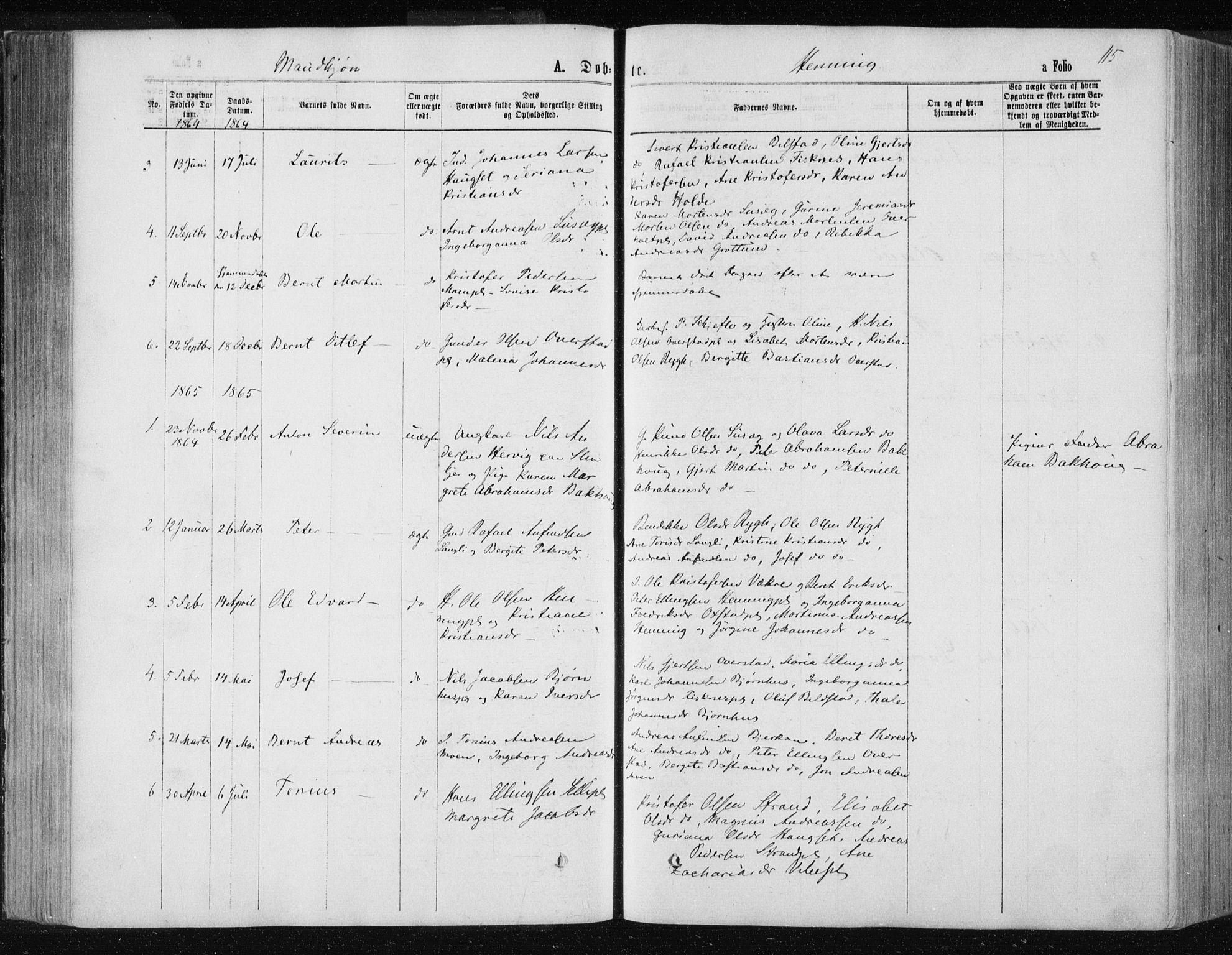 SAT, Ministerialprotokoller, klokkerbøker og fødselsregistre - Nord-Trøndelag, 735/L0345: Ministerialbok nr. 735A08 /3, 1863-1872, s. 115