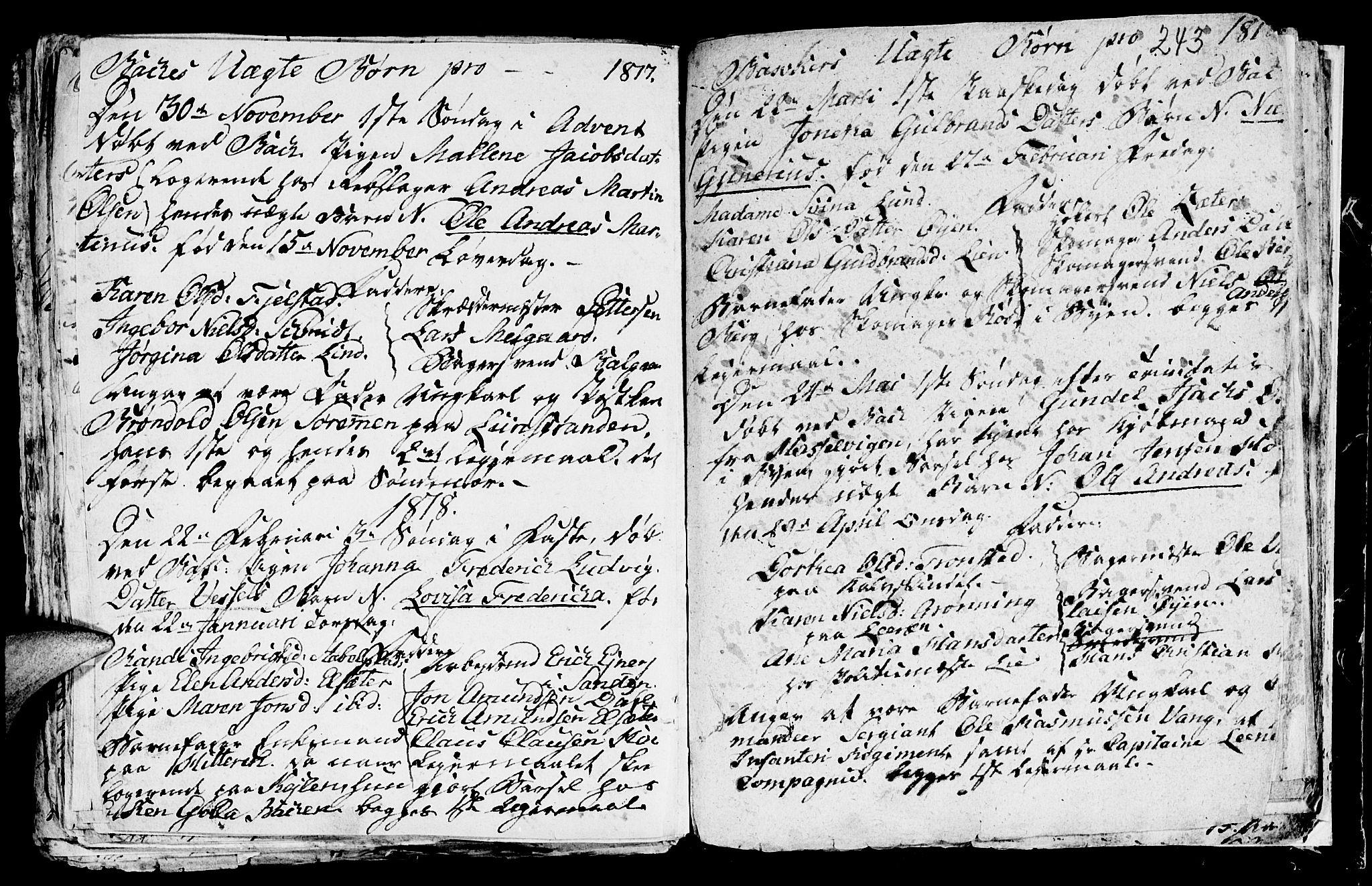 SAT, Ministerialprotokoller, klokkerbøker og fødselsregistre - Sør-Trøndelag, 604/L0218: Klokkerbok nr. 604C01, 1754-1819, s. 243