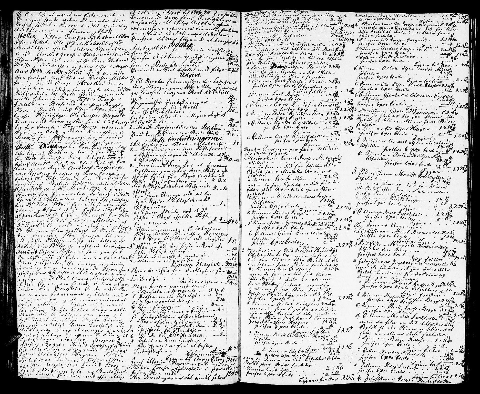SAT, Romsdal sorenskriveri, 3/3A/L0016: Skifteutlodnings Protokoll 2, 1823-1831, s. 115