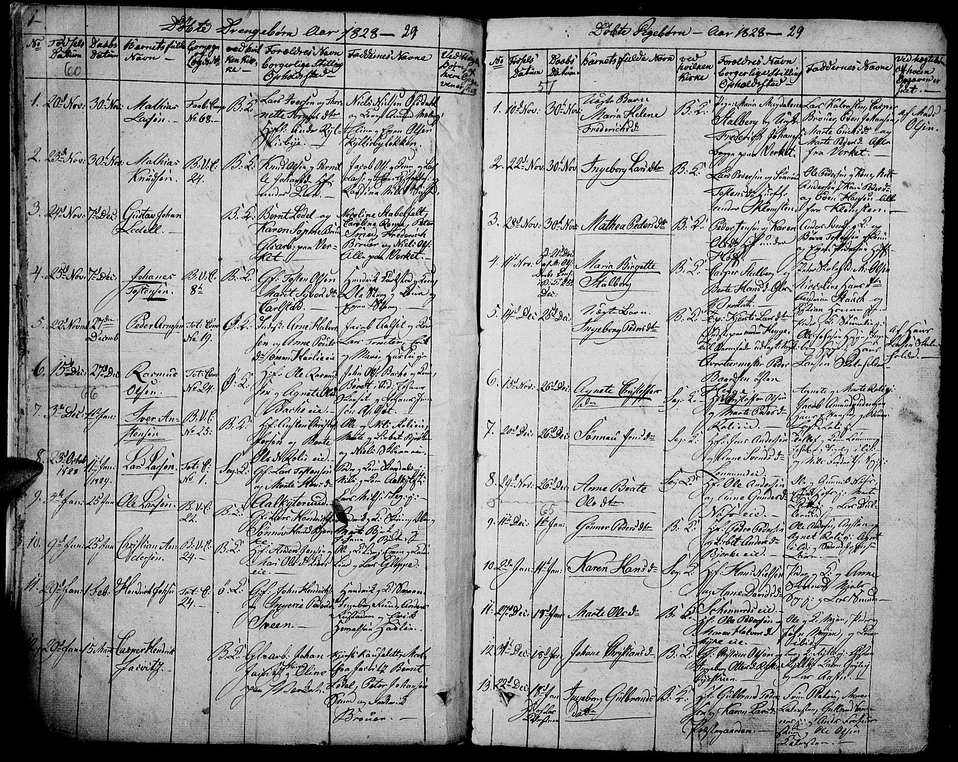 SAH, Biri prestekontor, Ministerialbok nr. 4, 1829-1842, s. 1