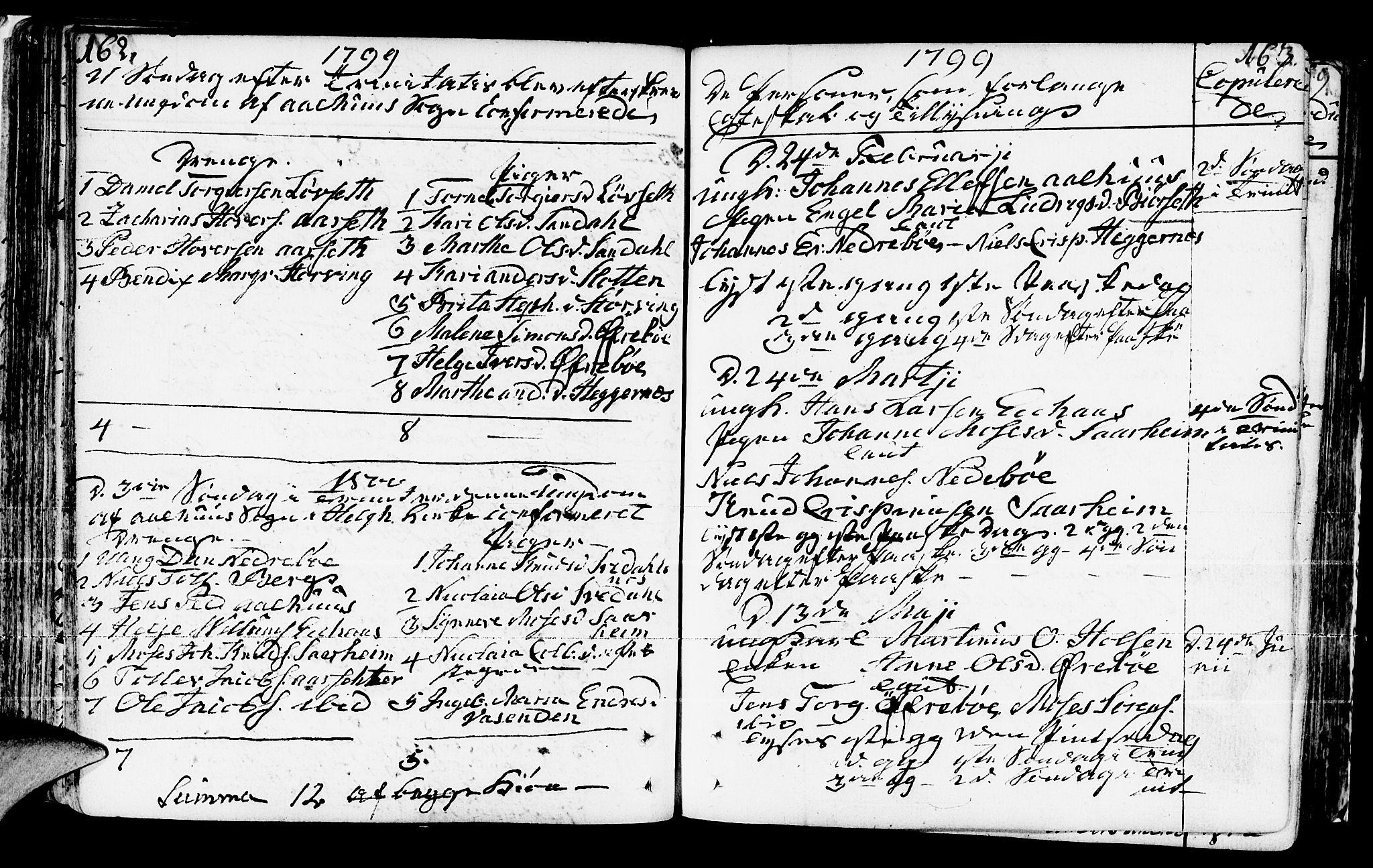 SAB, Jølster Sokneprestembete, Ministerialbok nr. A 5, 1790-1821, s. 162-163