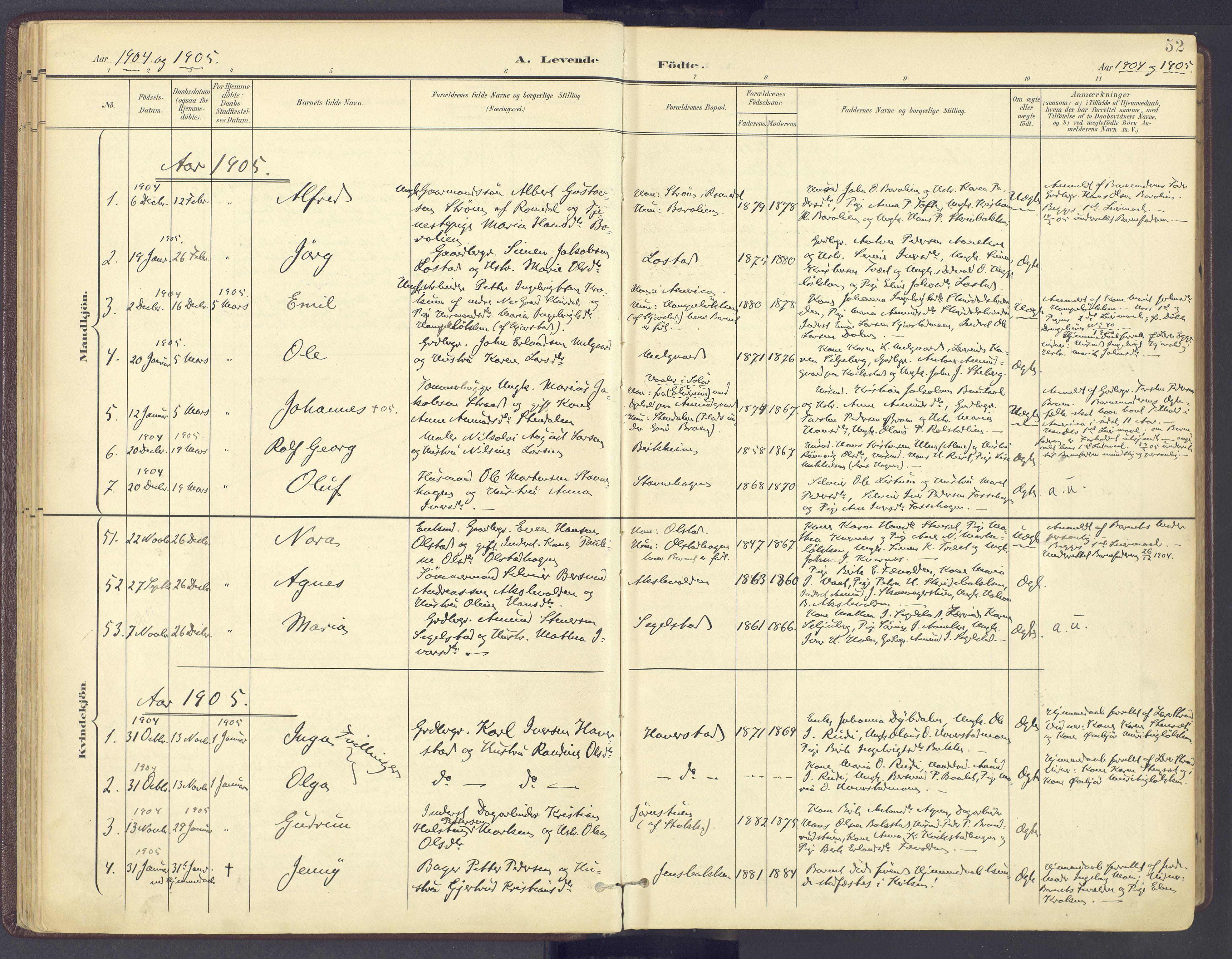 SAH, Sør-Fron prestekontor, H/Ha/Haa/L0004: Ministerialbok nr. 4, 1898-1919, s. 52