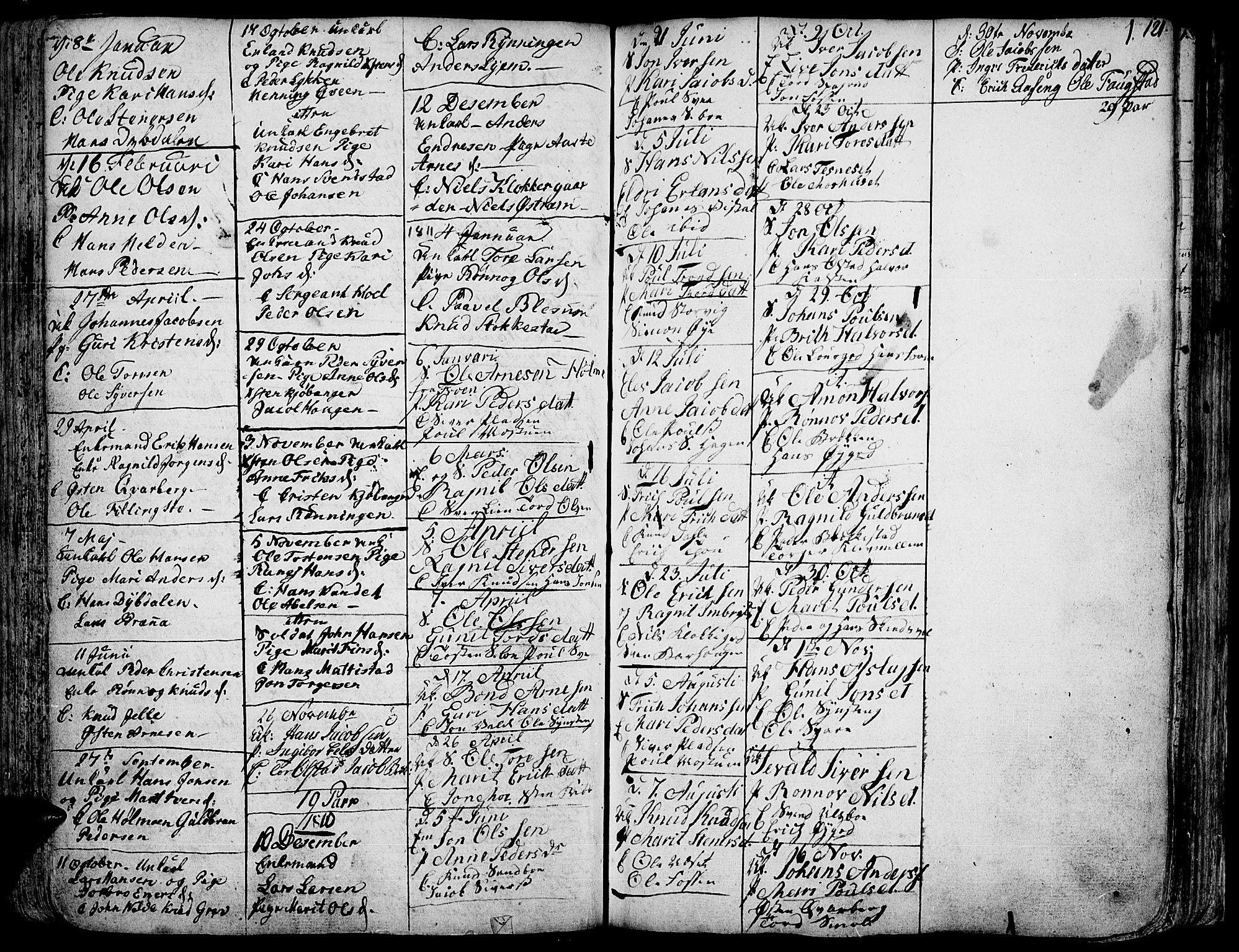 SAH, Vågå prestekontor, Ministerialbok nr. 1, 1739-1810, s. 121
