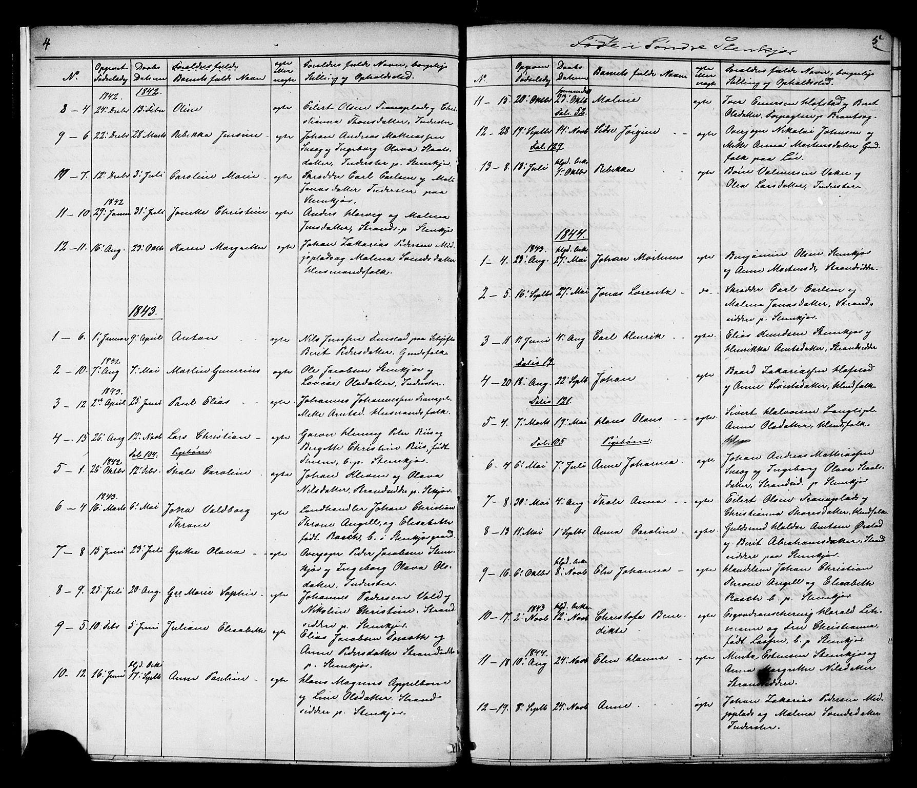 SAT, Ministerialprotokoller, klokkerbøker og fødselsregistre - Nord-Trøndelag, 739/L0367: Ministerialbok nr. 739A01 /1, 1838-1868, s. 4-5
