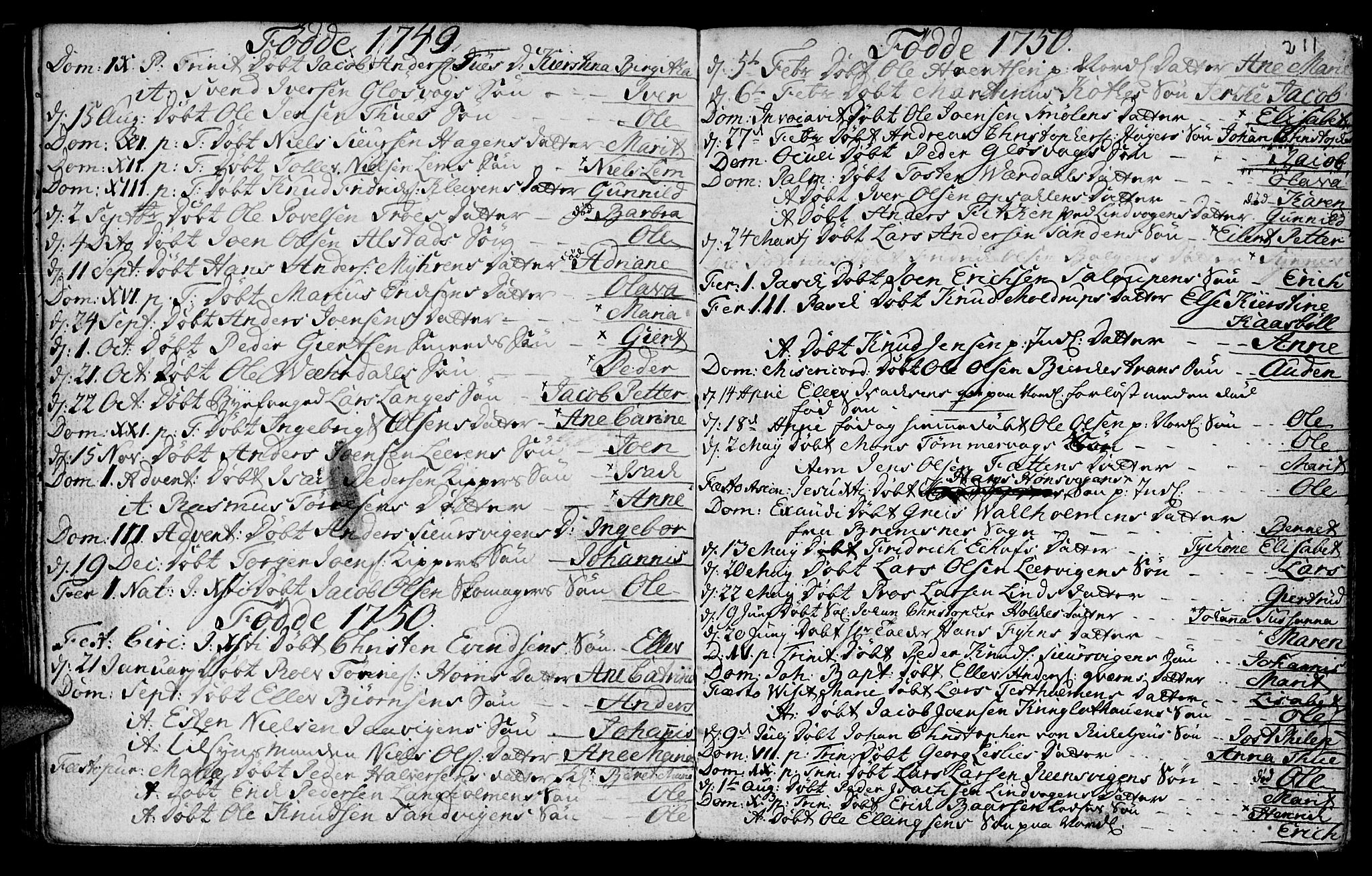 SAT, Ministerialprotokoller, klokkerbøker og fødselsregistre - Møre og Romsdal, 572/L0839: Ministerialbok nr. 572A02, 1739-1754, s. 210-211