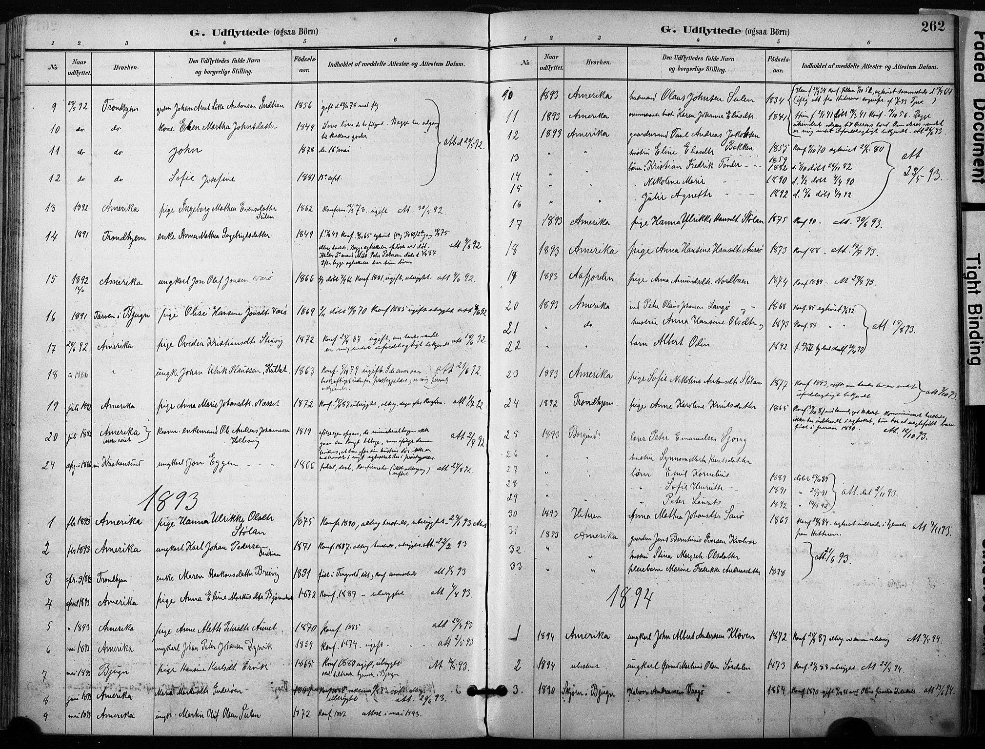 SAT, Ministerialprotokoller, klokkerbøker og fødselsregistre - Sør-Trøndelag, 640/L0579: Ministerialbok nr. 640A04, 1889-1902, s. 262