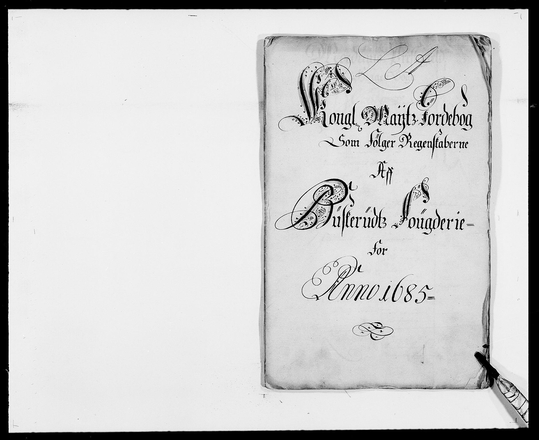 RA, Rentekammeret inntil 1814, Reviderte regnskaper, Fogderegnskap, R25/L1678: Fogderegnskap Buskerud, 1685-1686, s. 2