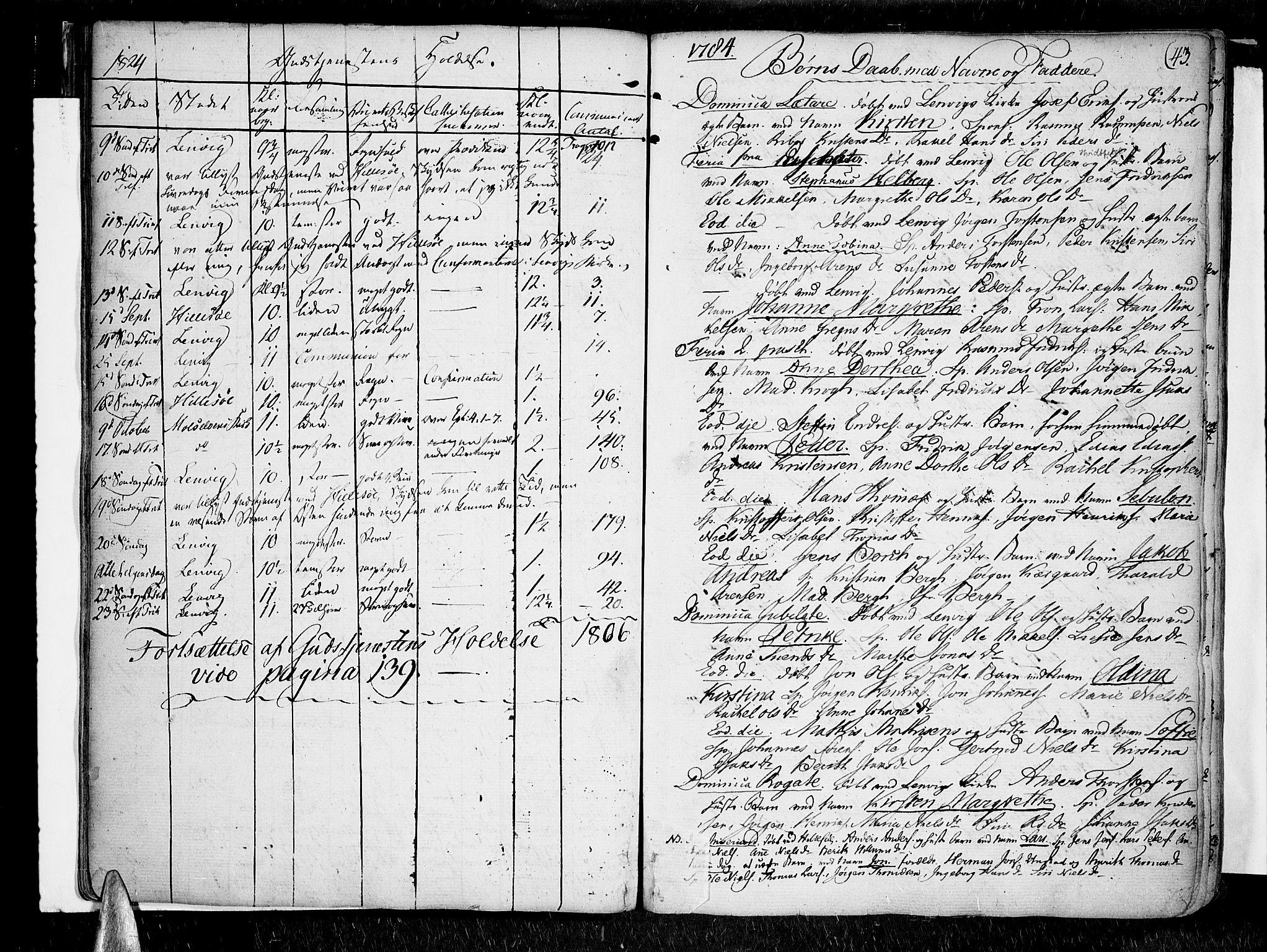 SATØ, Lenvik sokneprestembete, H/Ha: Ministerialbok nr. 2, 1784-1820, s. 43